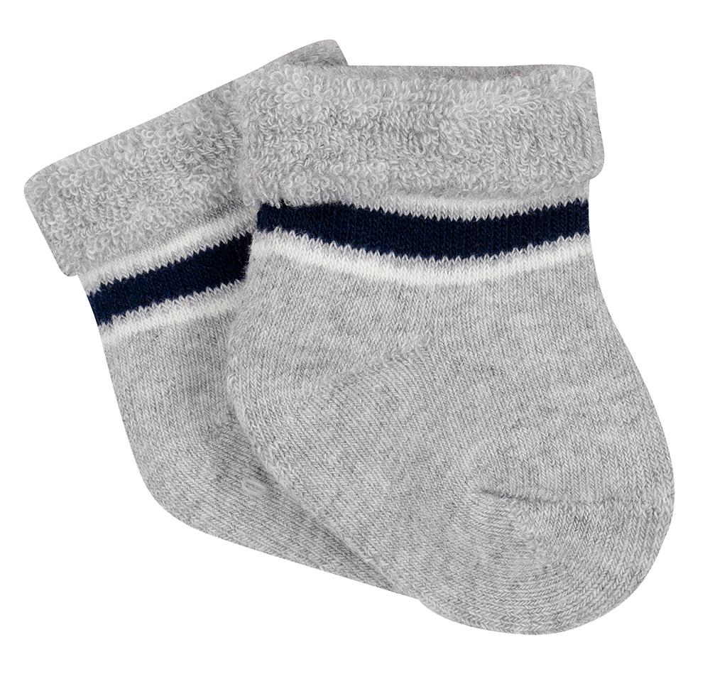 6-Pack Boys Navy & Grey Wiggle-Proof Socks