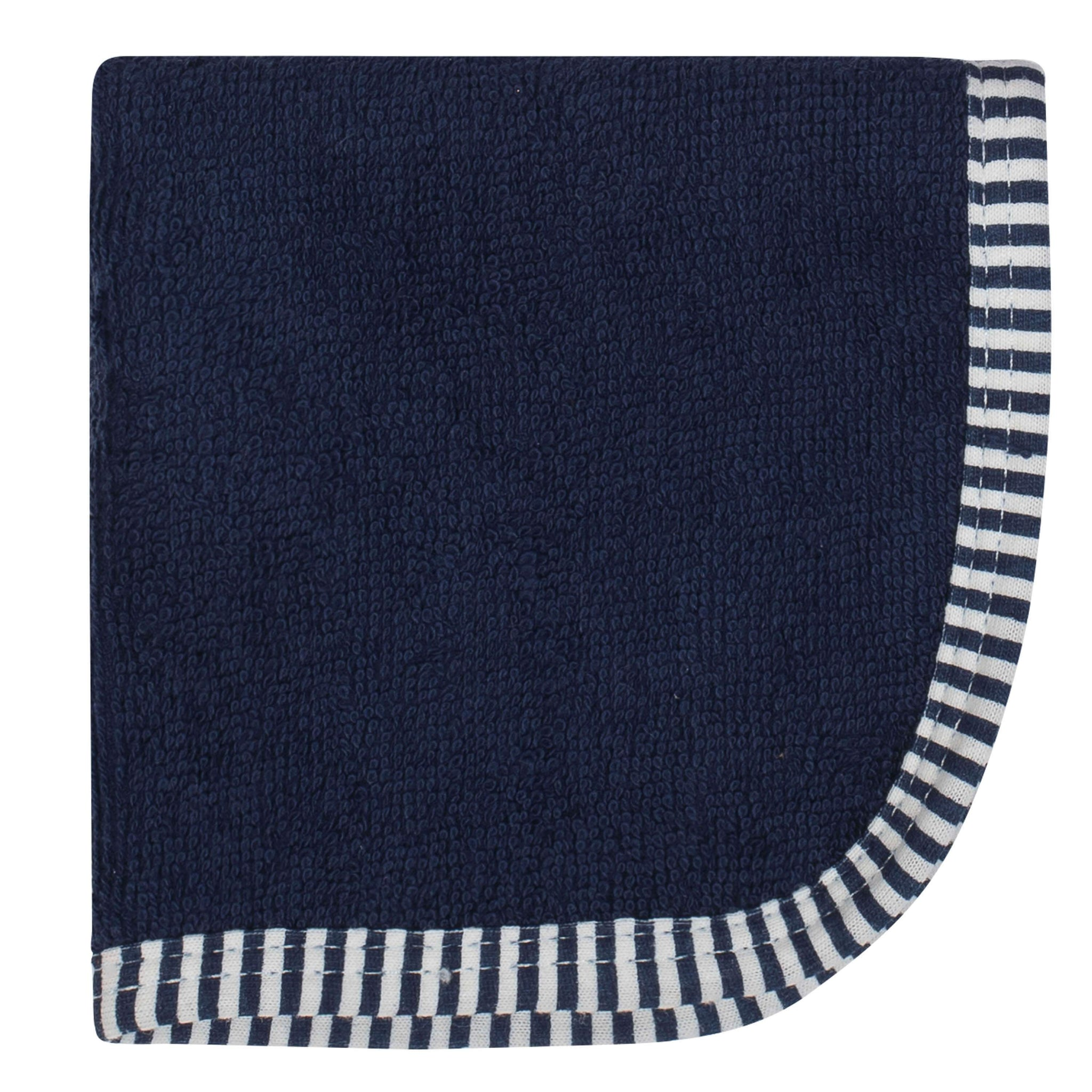 Boys 6-pack Navy and Orange Woven Washcloths