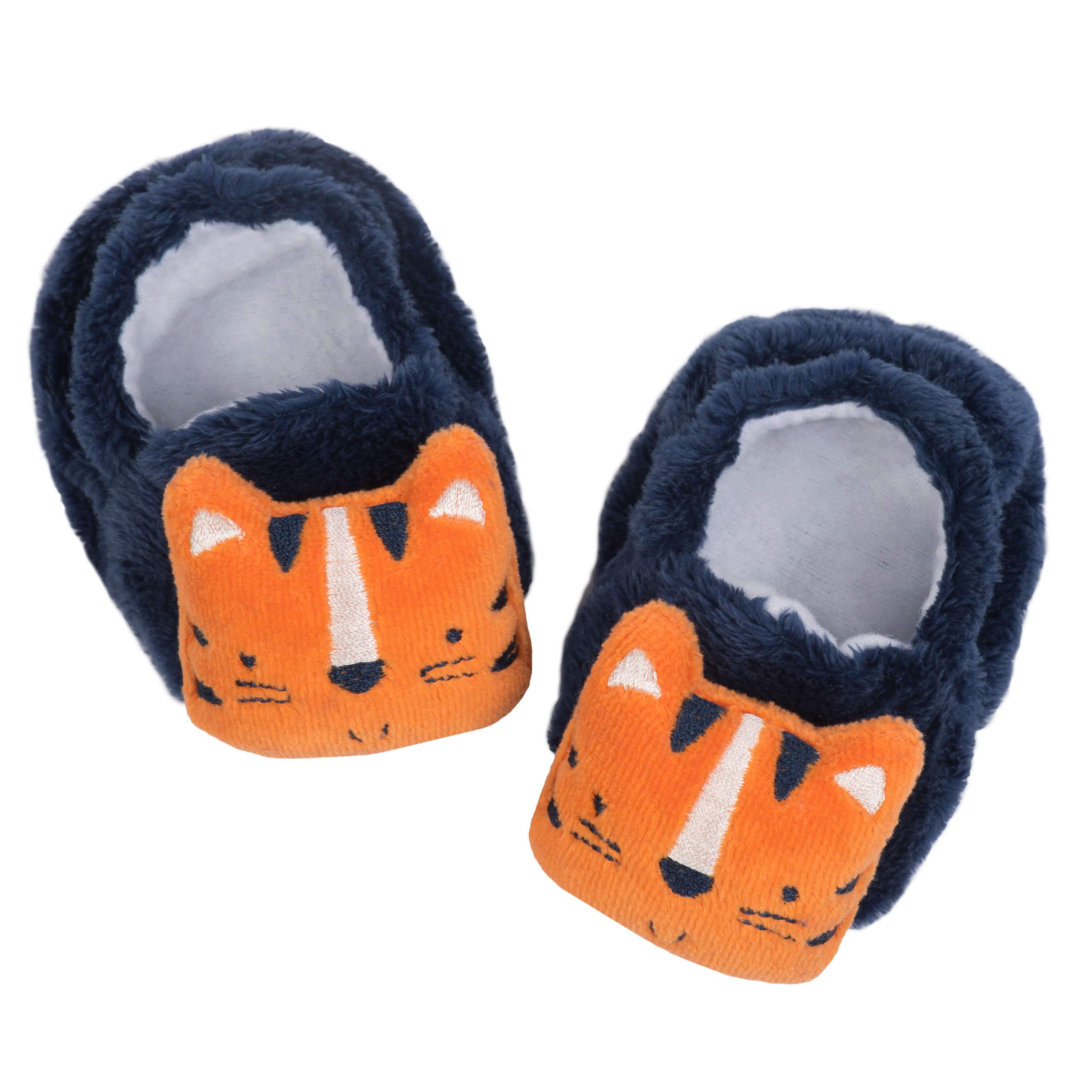 1-Pack Baby Boys Tiger Velboa Booties