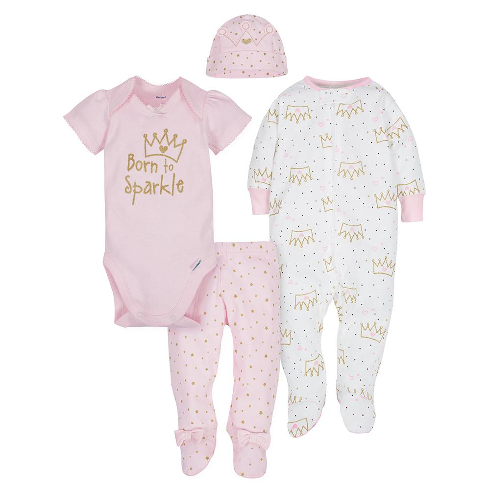 4-Piece Girls Princess Bundled Gift Set-Gerber Childrenswear