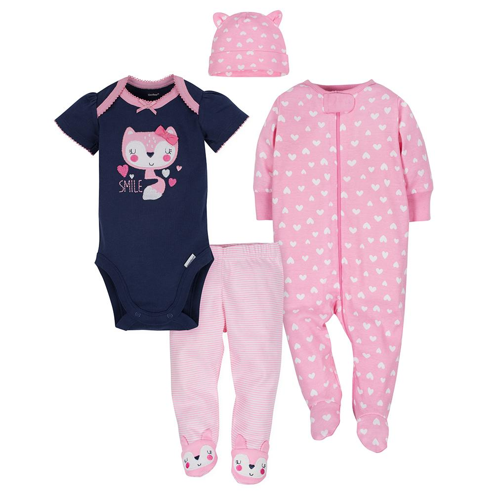 4-Piece Girls Fox Take-Me-Home Set