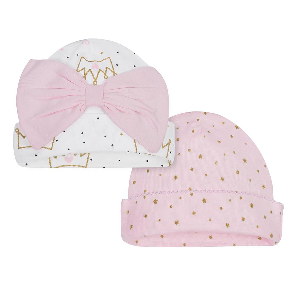 2-Pack Girls Princess Caps