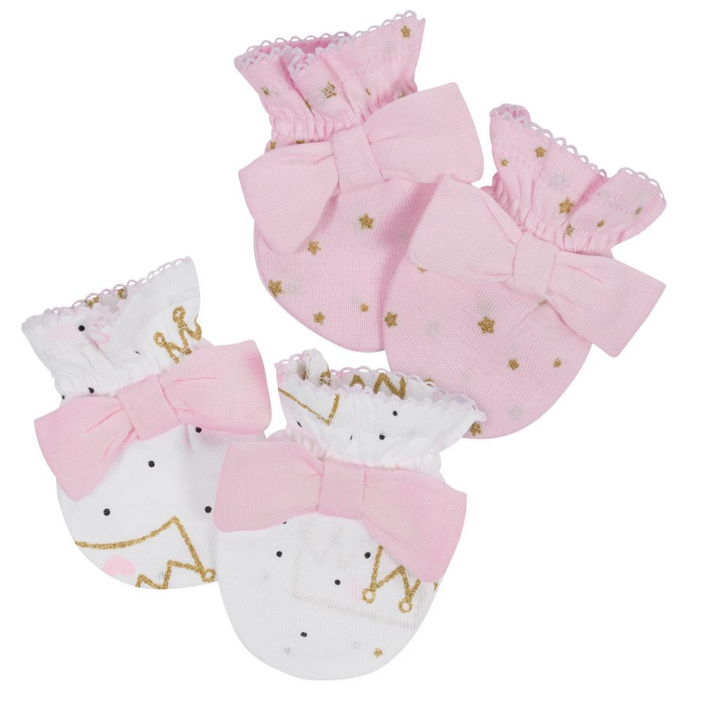Gerber® 2-Pack Girls Princess Mittens-Gerber Childrenswear