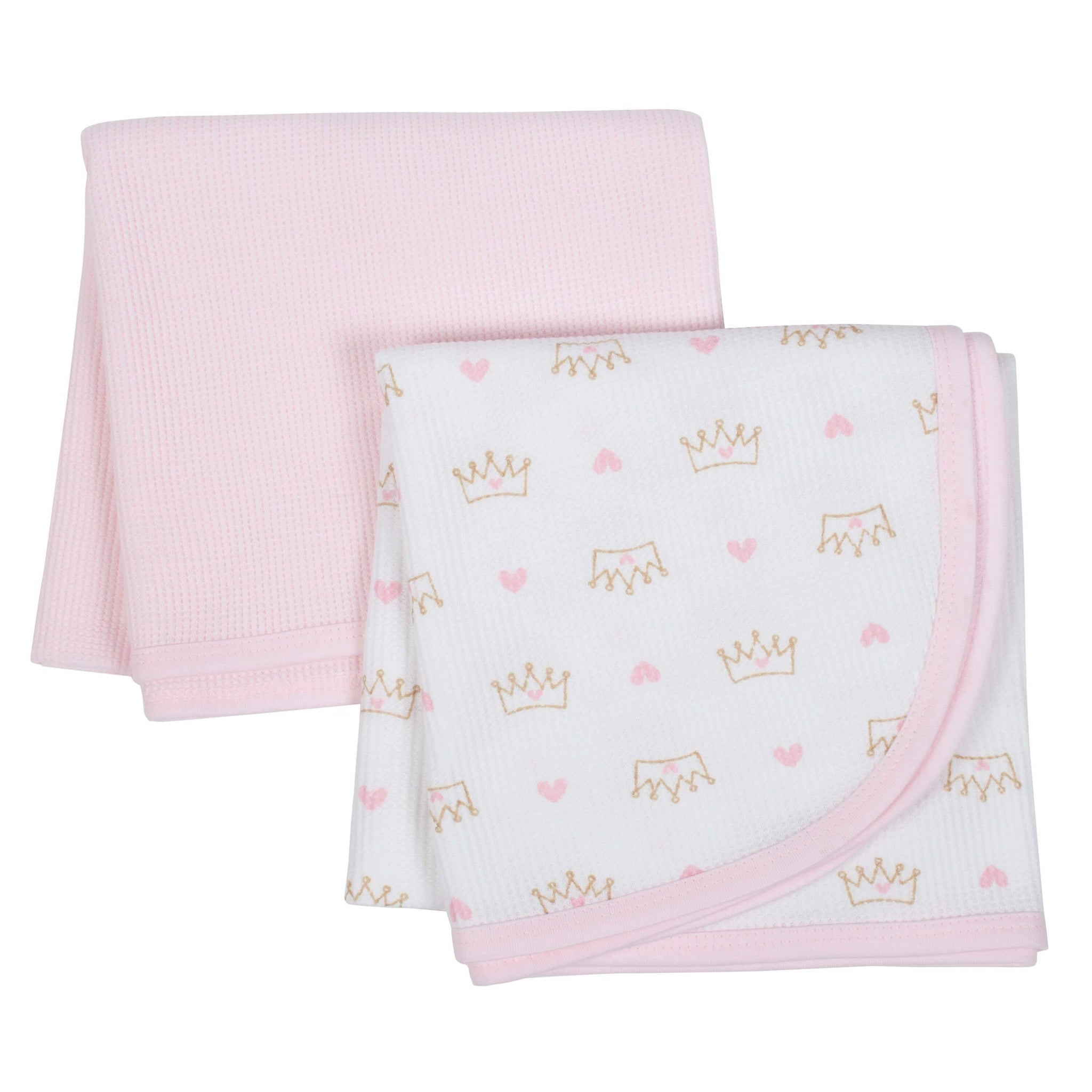 2-Pack Girls Princess Thermal Blankets