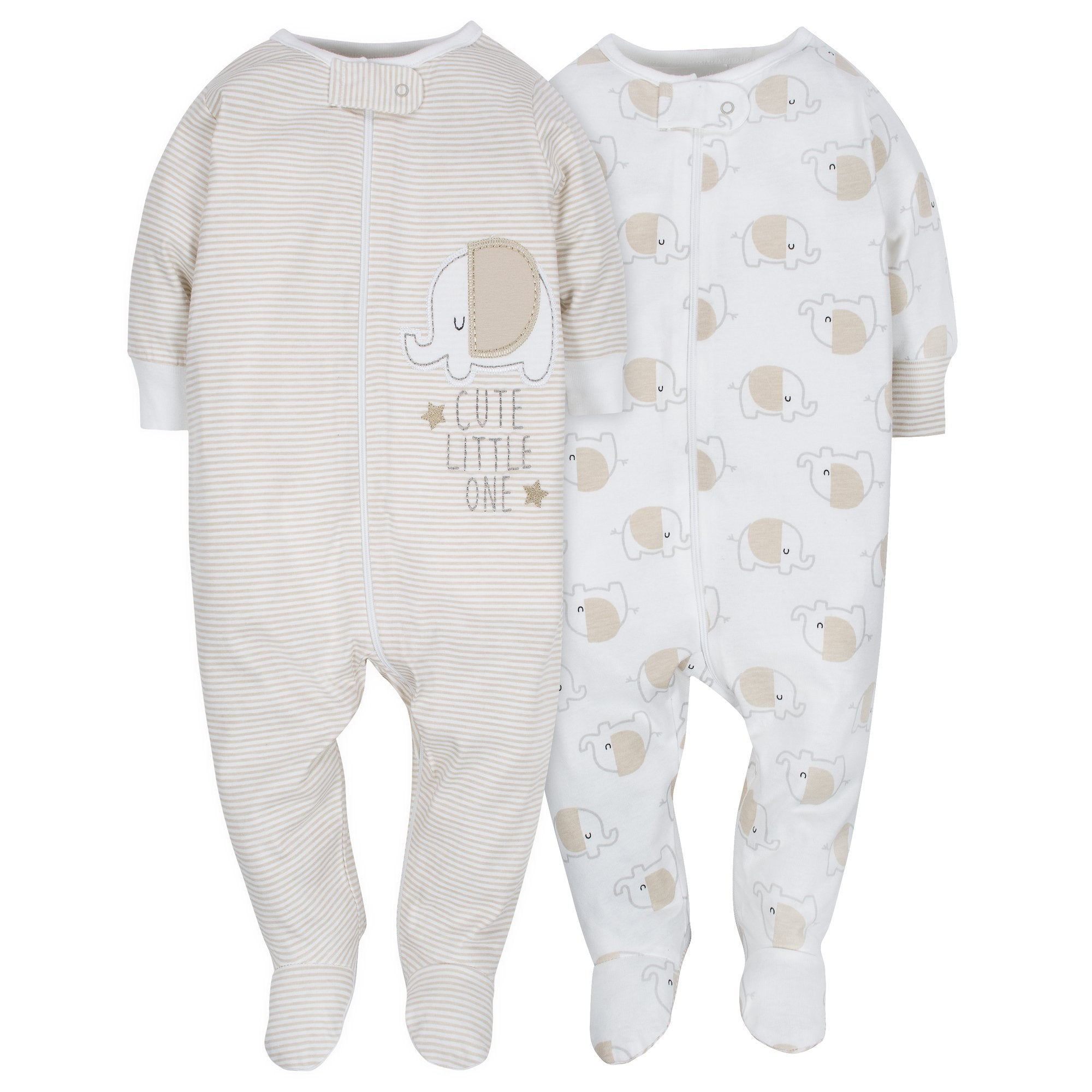 2-Pack Neutral Elephant Sleep N' Play