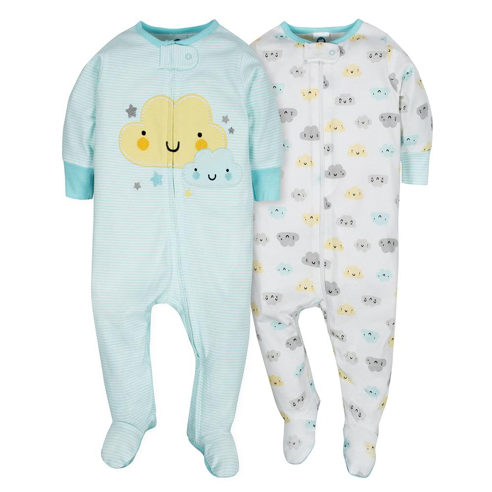 2-Pack Neutral Clouds Sleep N' Play-Gerber Childrenswear