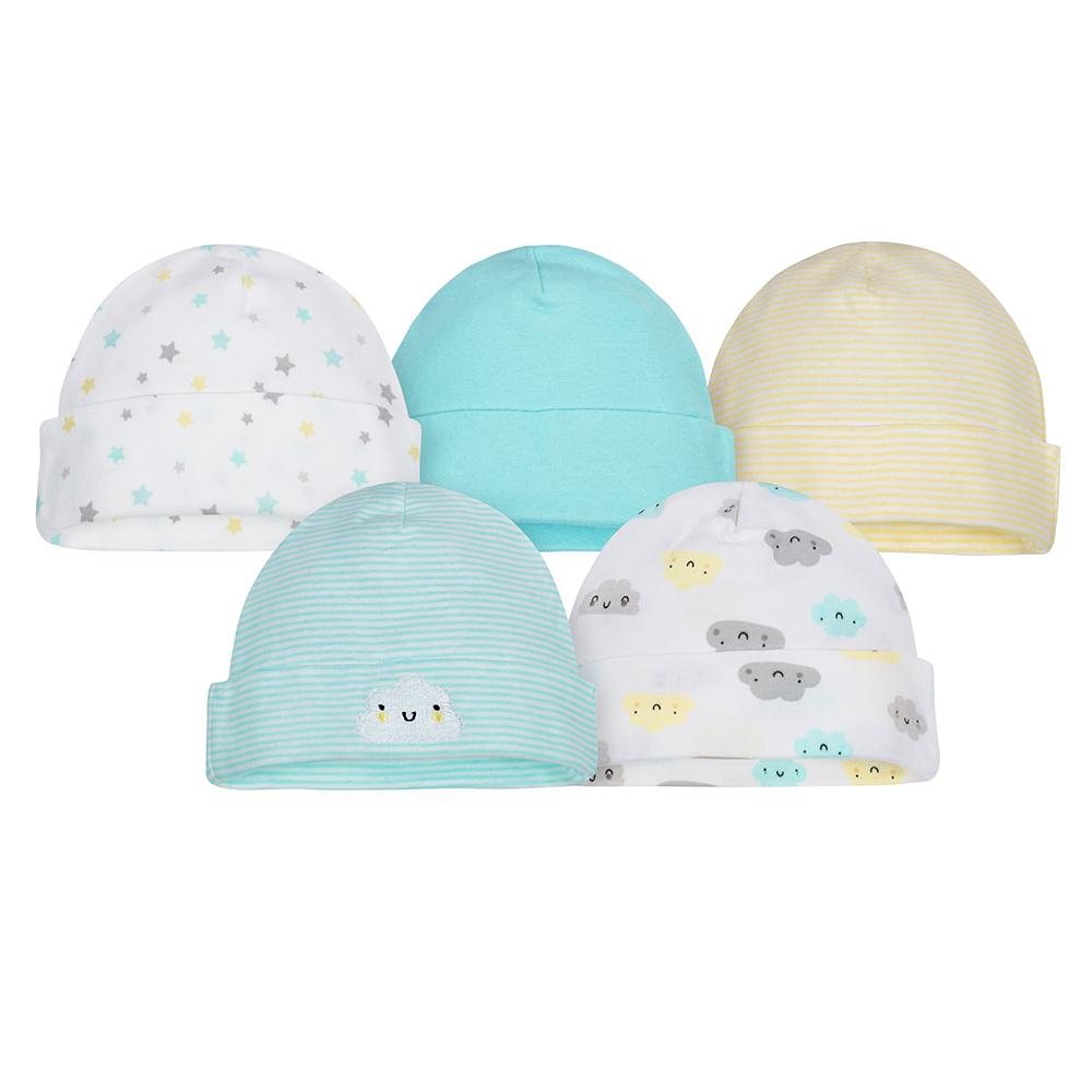 5-Pack Neutral Yellow Cloud Caps