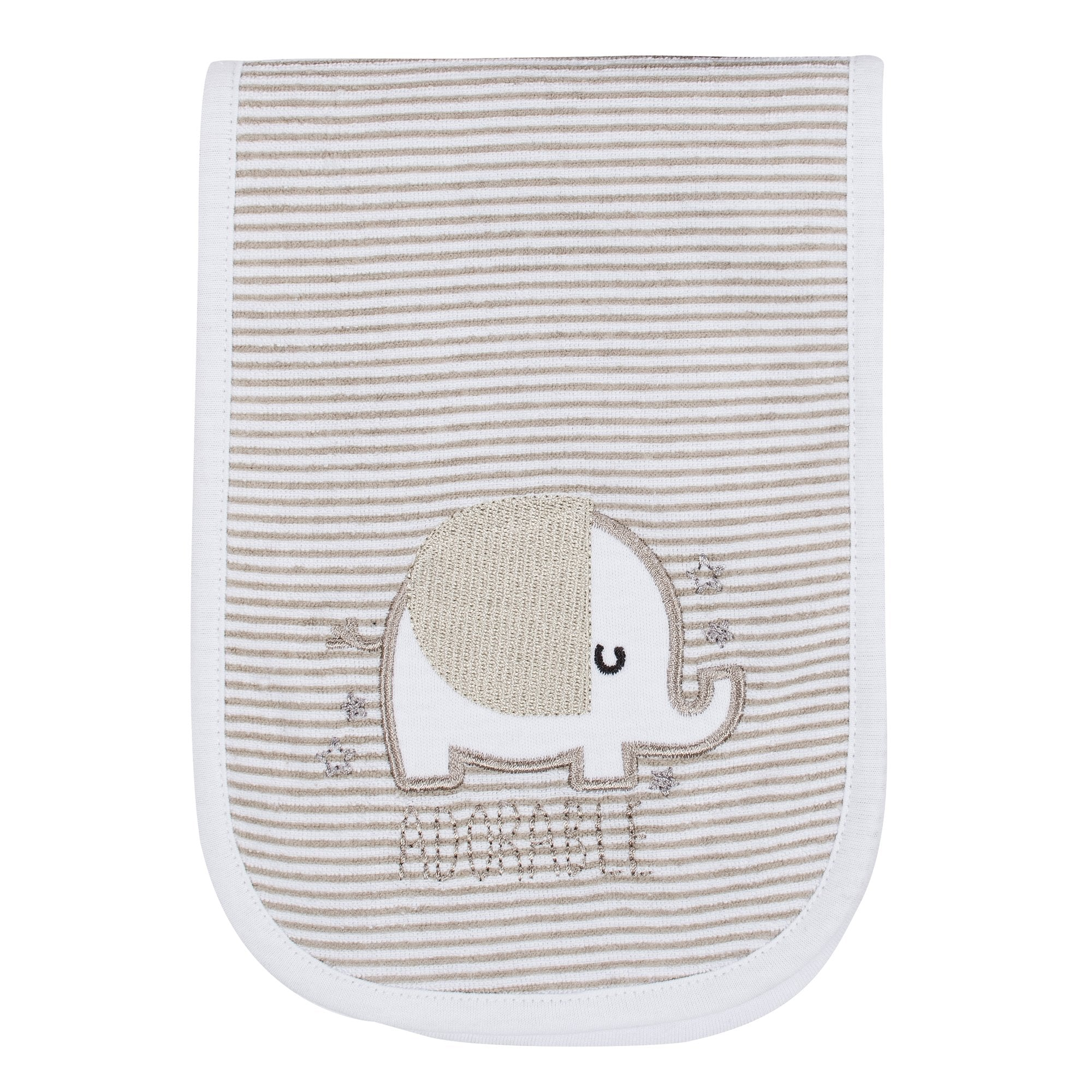 Gerber® 3-Pack Neutral Elephant Terry Burp Cloths-Gerber Childrenswear