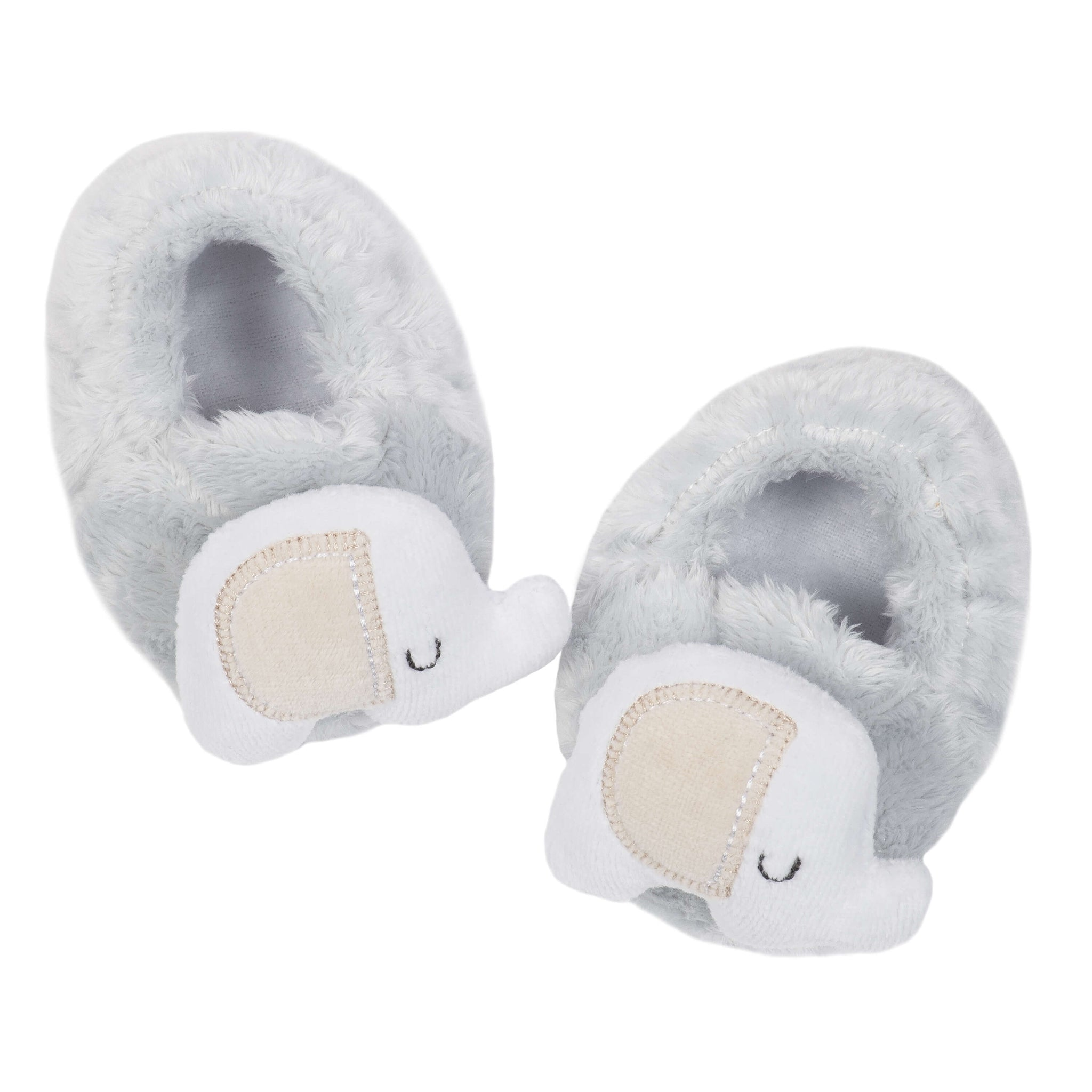 1-Pack Neutral Elephant Velboa Booties-Gerber Childrenswear