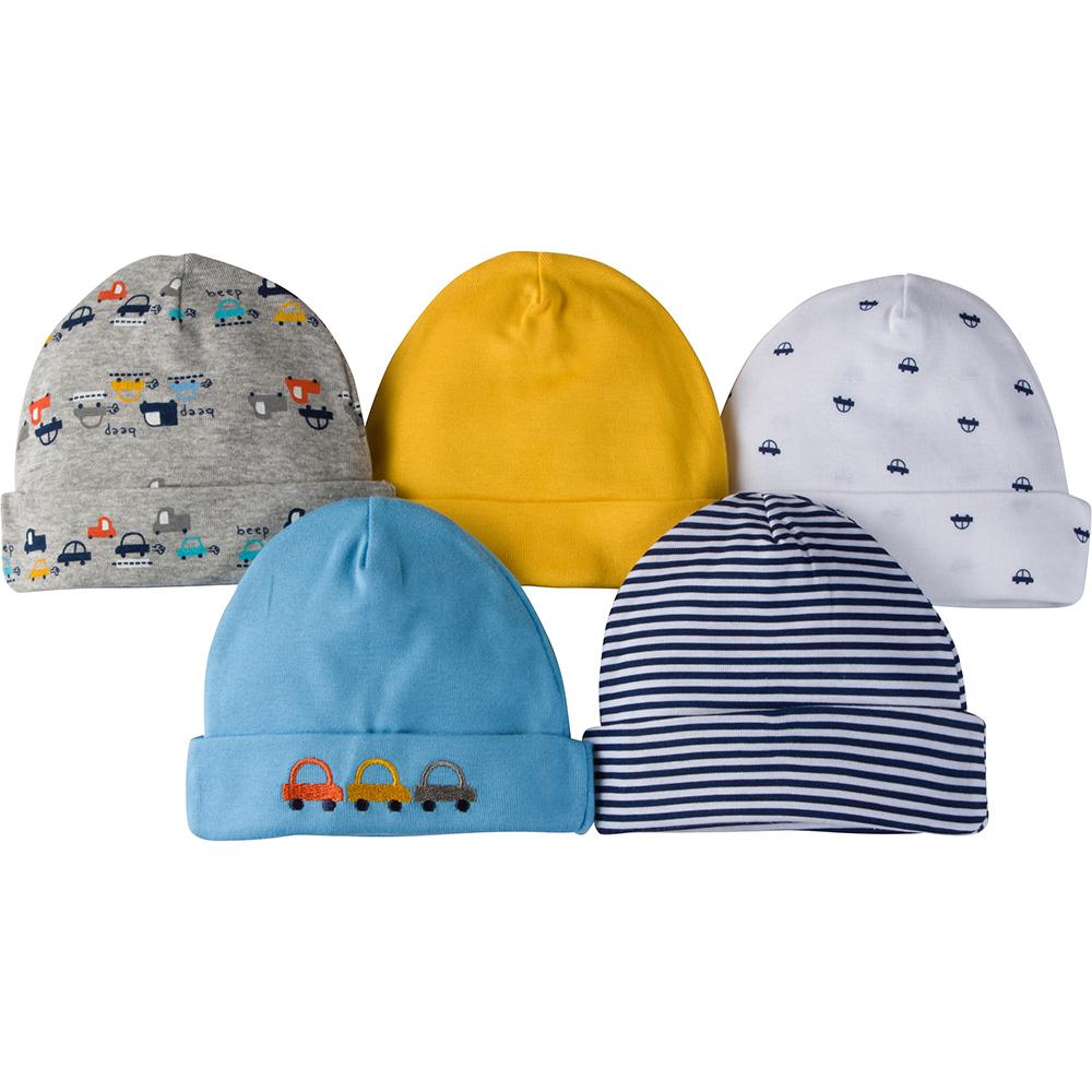 5-Pack Boys Cars Themed Caps-Gerber Childrenswear