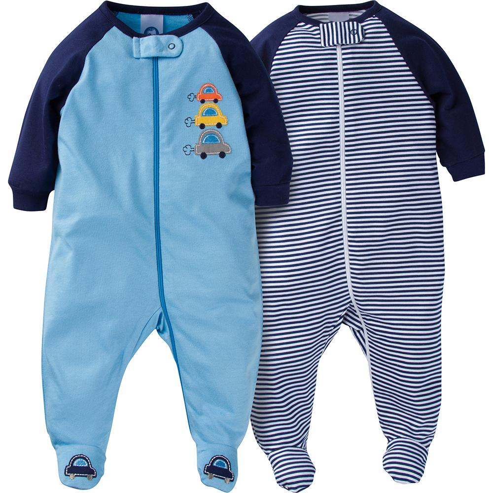 2-Pack Boys Cars Sleep N' Play-Gerber Childrenswear
