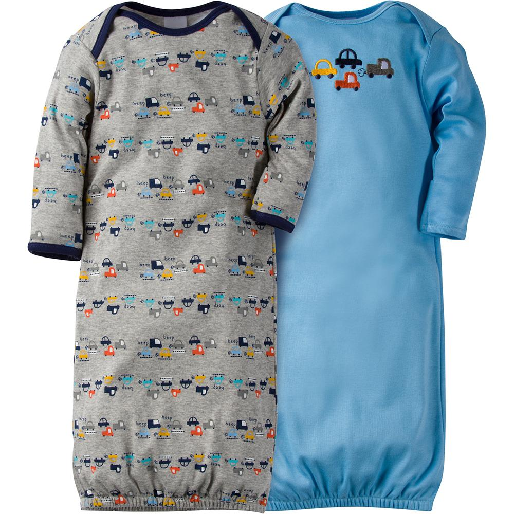 2-Pack Boys Cars Gowns-Gerber Childrenswear