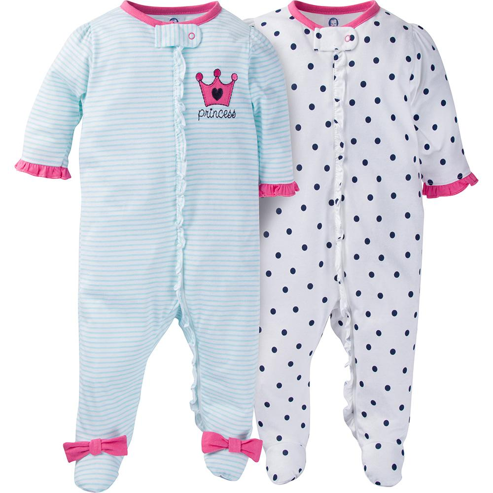 2-Pack Girls Princess Sleep N' Plays-Gerber Childrenswear