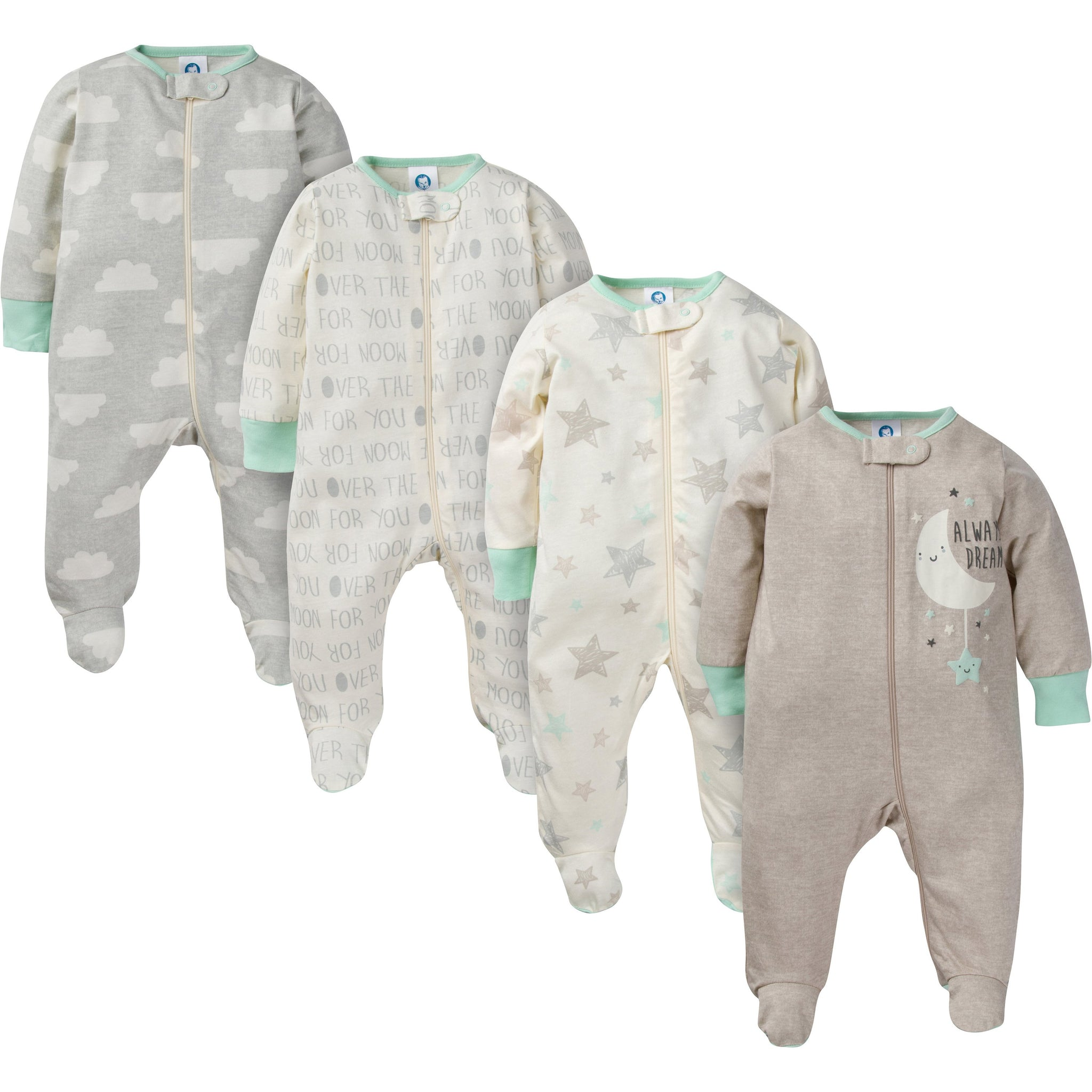 4-Pack Neutral Elephants Sleep N' Play