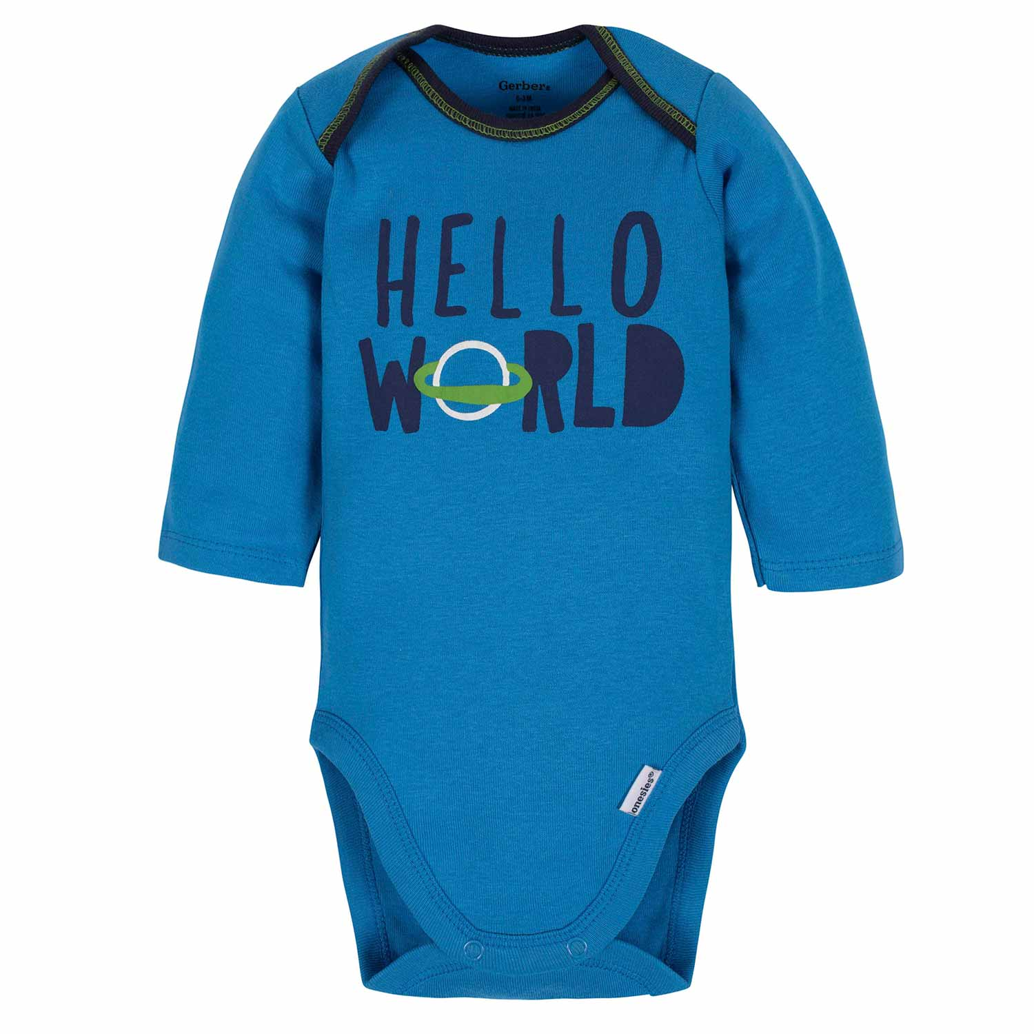 3-Piece Baby Boys Space Bodysuit, Pant, & Cap Set