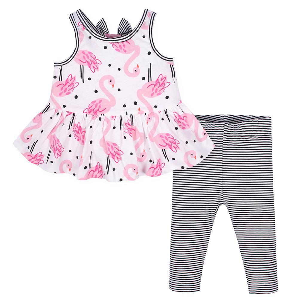 2-piece Girls Flamingo Tunic & Legging Set