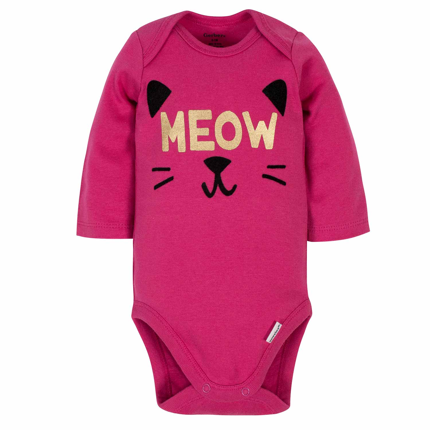 3-Piece Baby Girls Kitty Bodysuit, Pant, & Cap Set