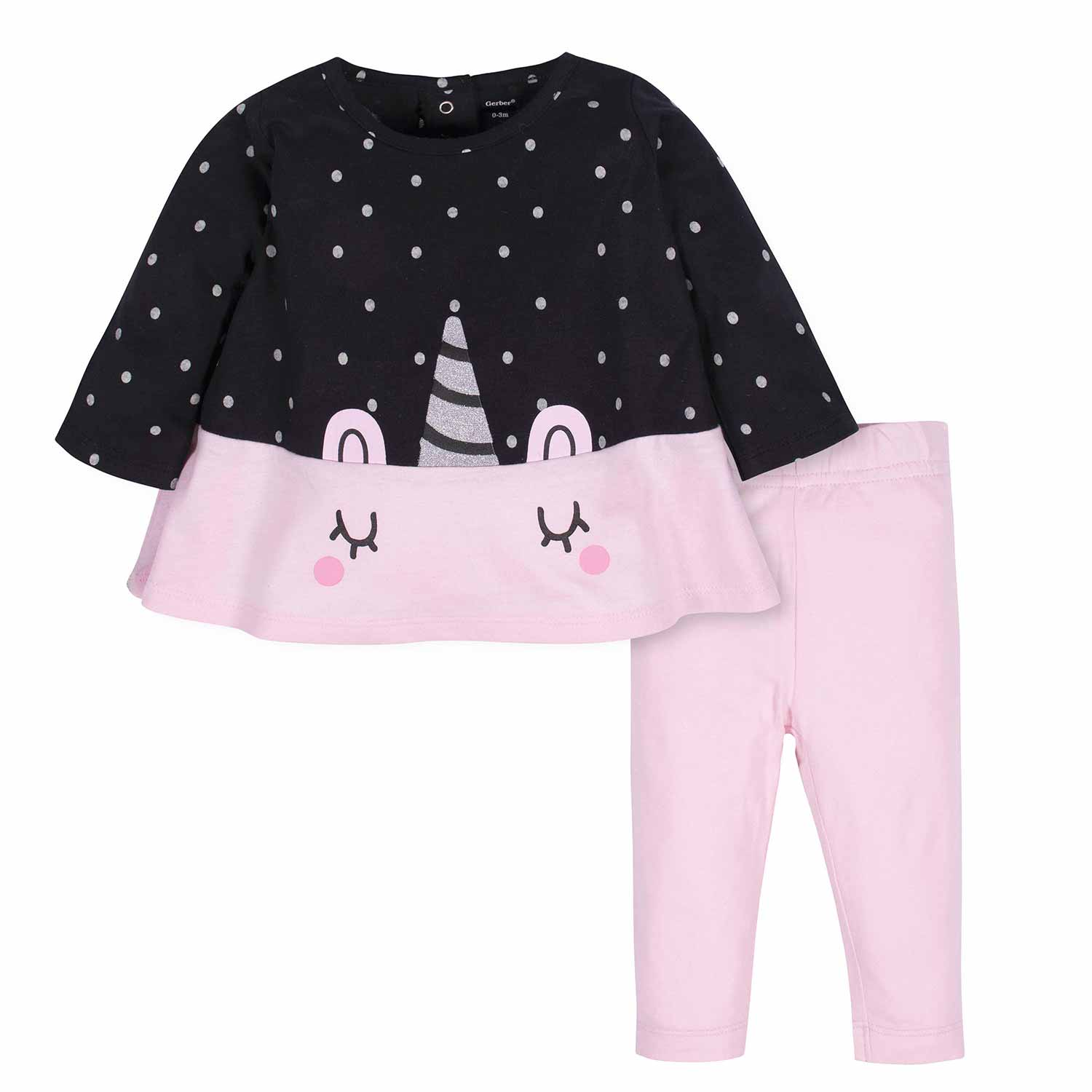 2-Piece Baby Girls Unicorn Tunic and Legging Set