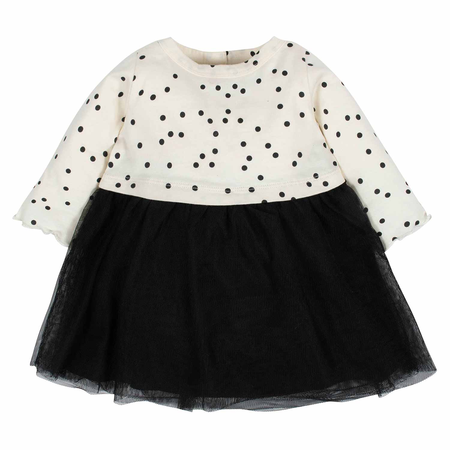 Gerber® Baby Girls Dotted Tulle Dress
