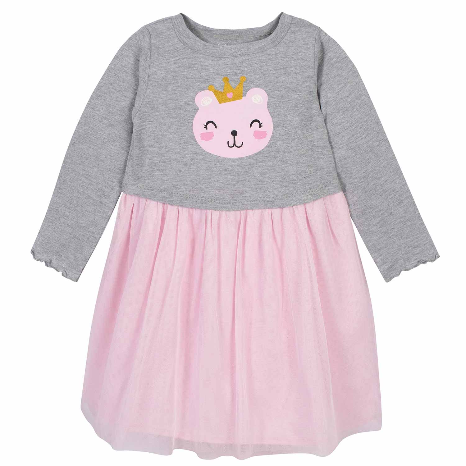 Toddler Girls Princess Bear Tulle Dress