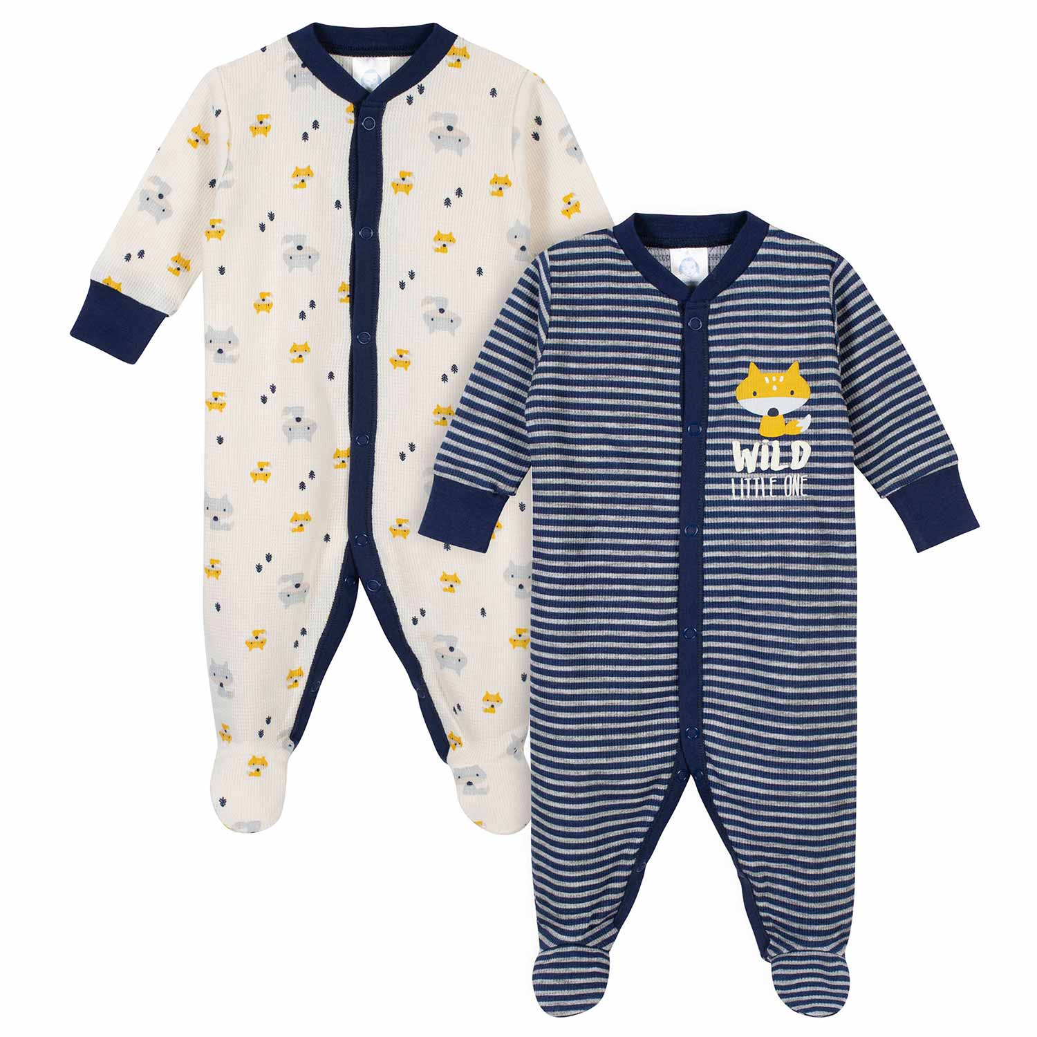 2-Pack Baby Boys Woodland Thermal Sleep N' Plays