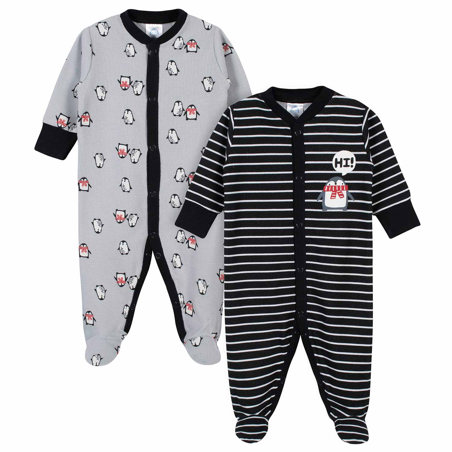Gerber® 2-Pack Baby Boys Penguin Thermal Sleep N' Plays