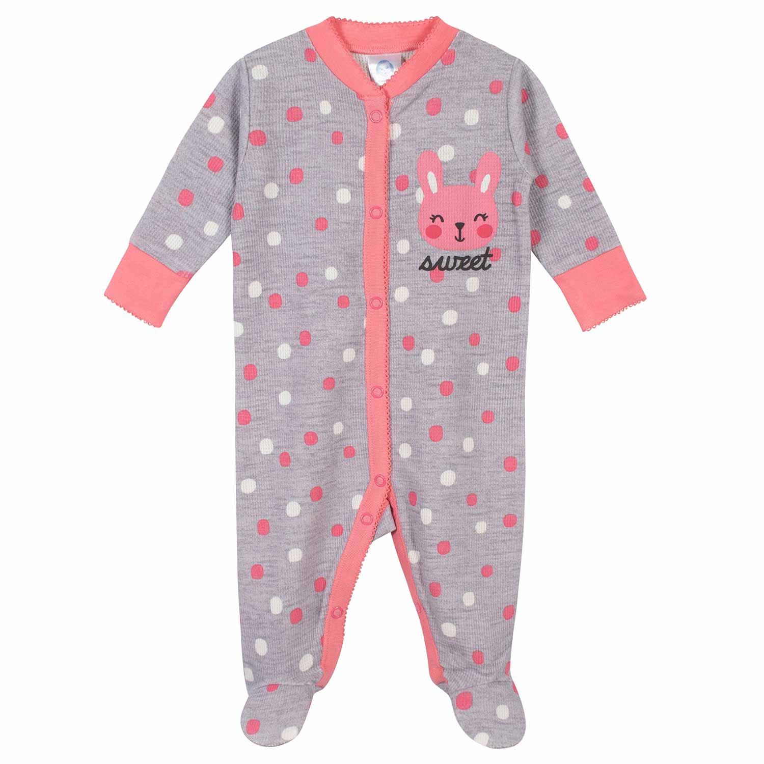 2-Pack Baby Girls Bunny Thermal Sleep N' Plays