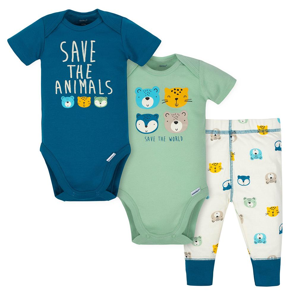 3-Piece Boys Save the Animals Playette Set