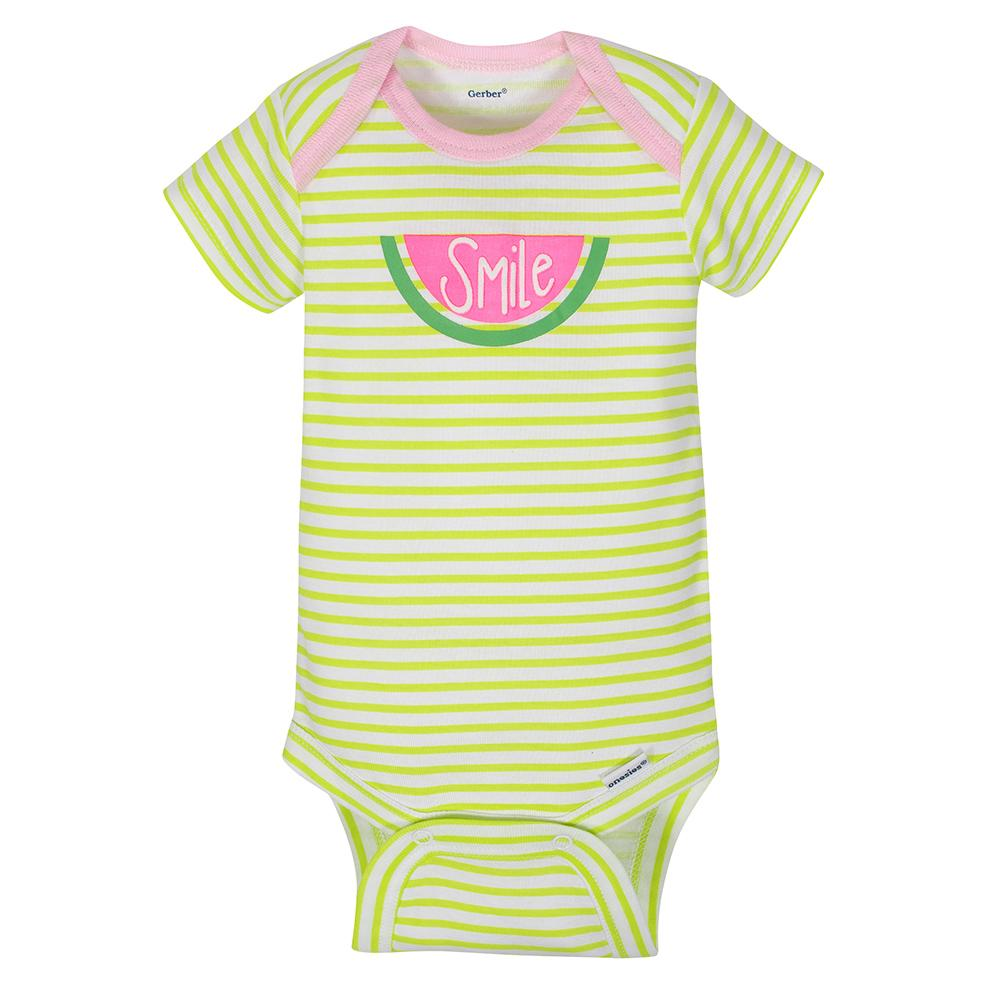 103bbf516ea 4-Pack Girls Watermelon Short Sleeve Onesies® Bodysuits