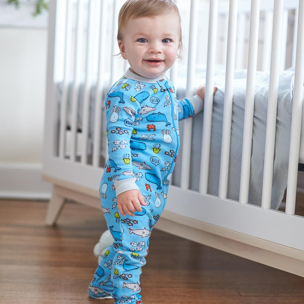 2-Pack Baby Boys Under The Sea Snug Fit Footed Pajamas ...