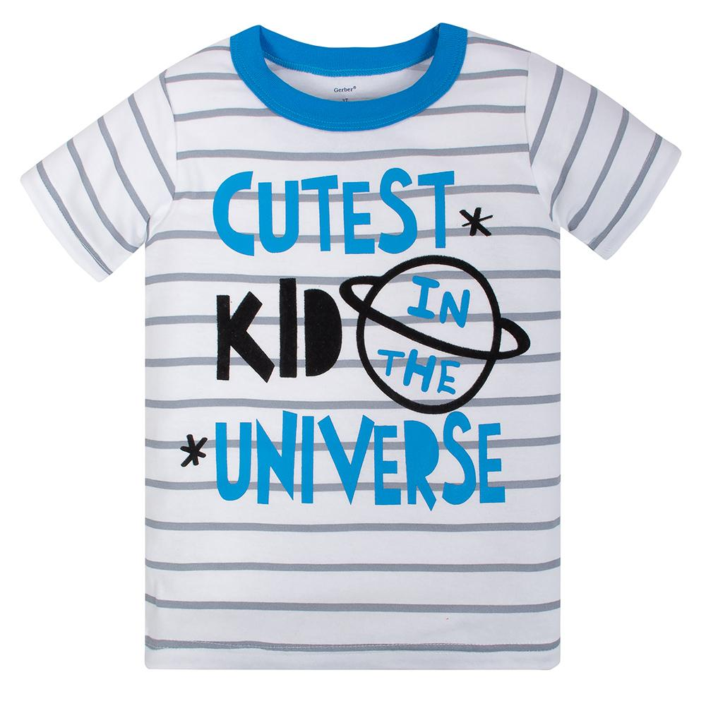 4-Piece Boys Space Ship Shirts and Pants Set