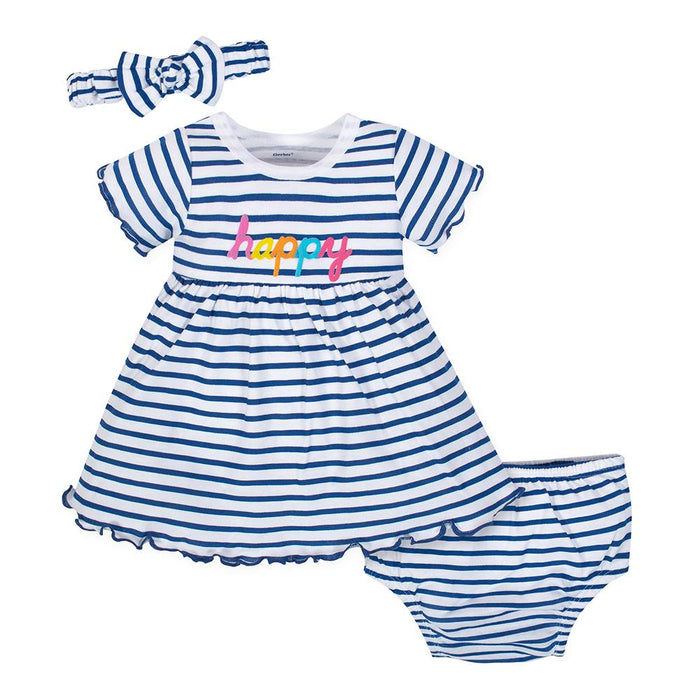 aacefed3f5f3 3-Piece Infant   Toddler Girls Happy Dress