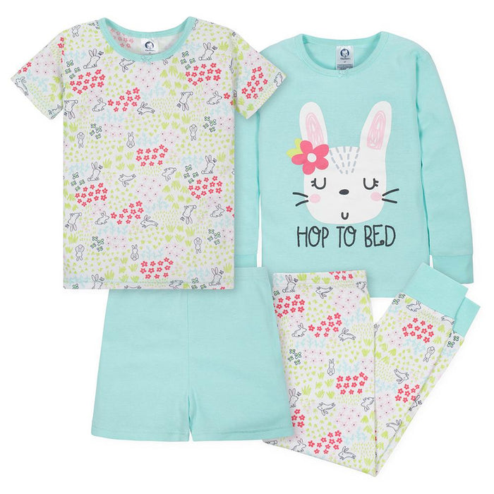 6d7f15c9d4 4-Piece Girls Bunny Snug Fit Pajama Set – Gerber Childrenswear
