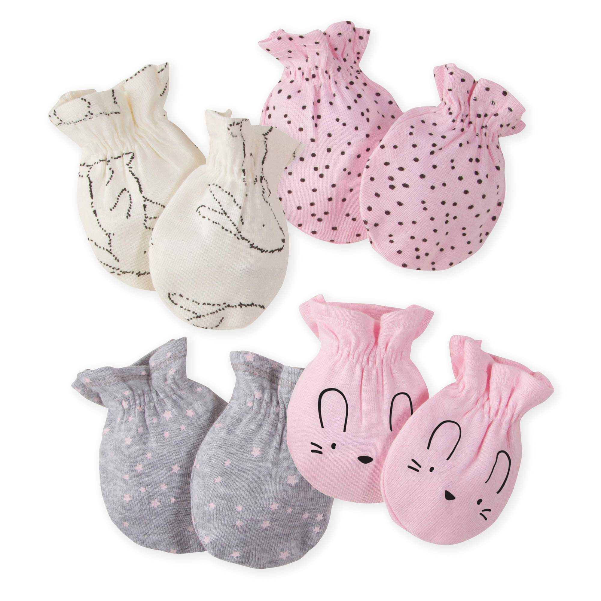 4-Pack Girls Bunny Mittens