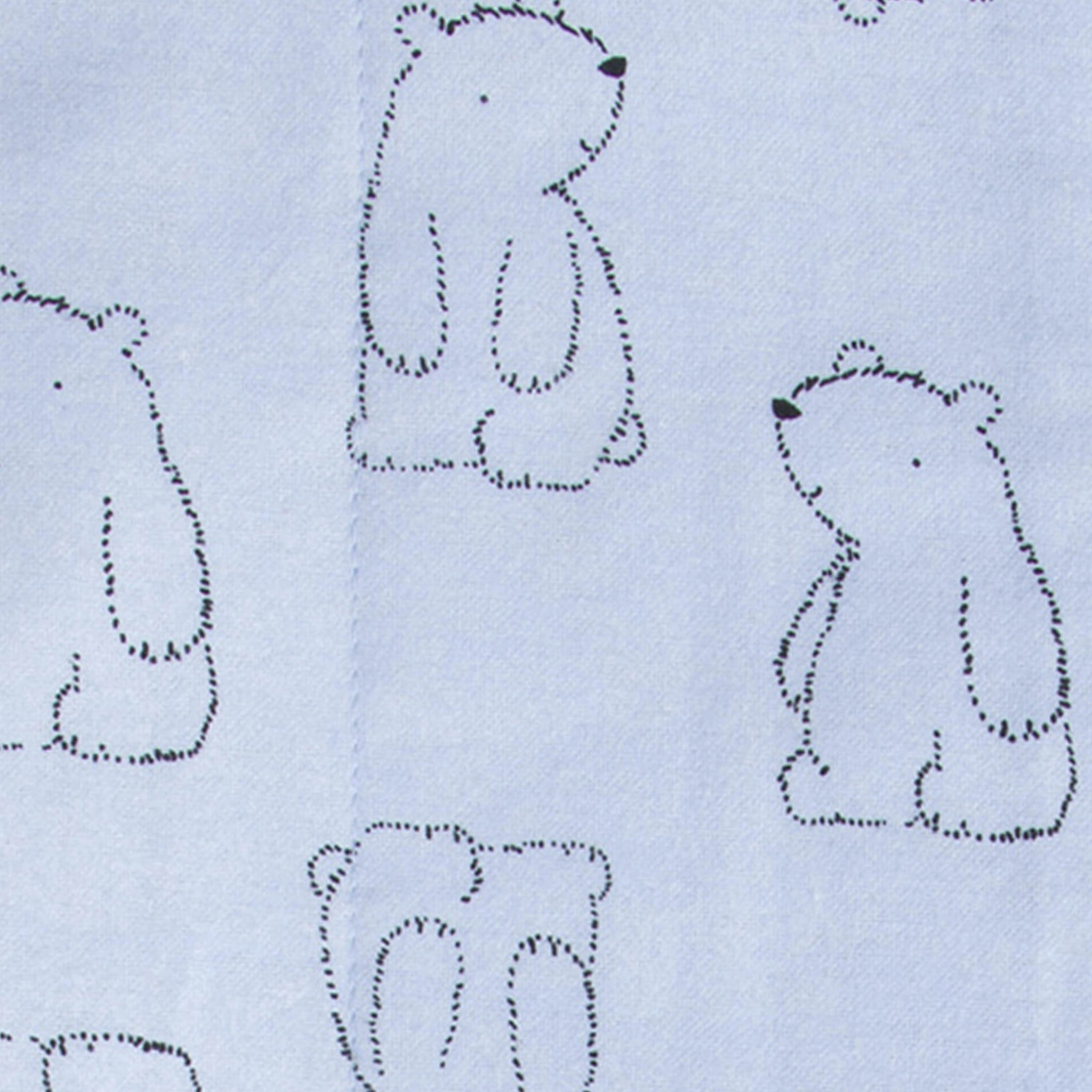 4-Pack Boys Bear Flannel Burp Cloths