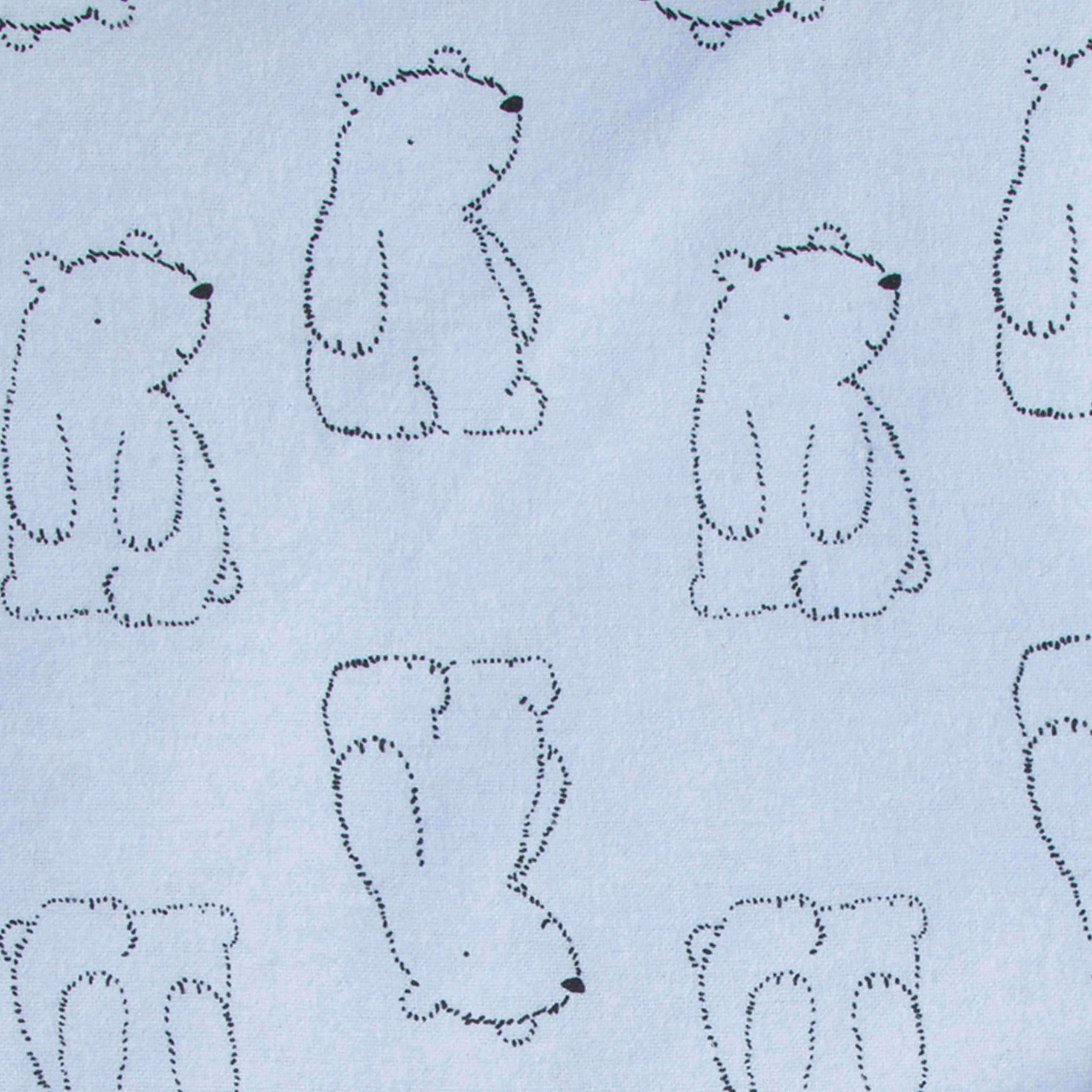 4-Pack Boys Bear Flannel Receiving Blankets