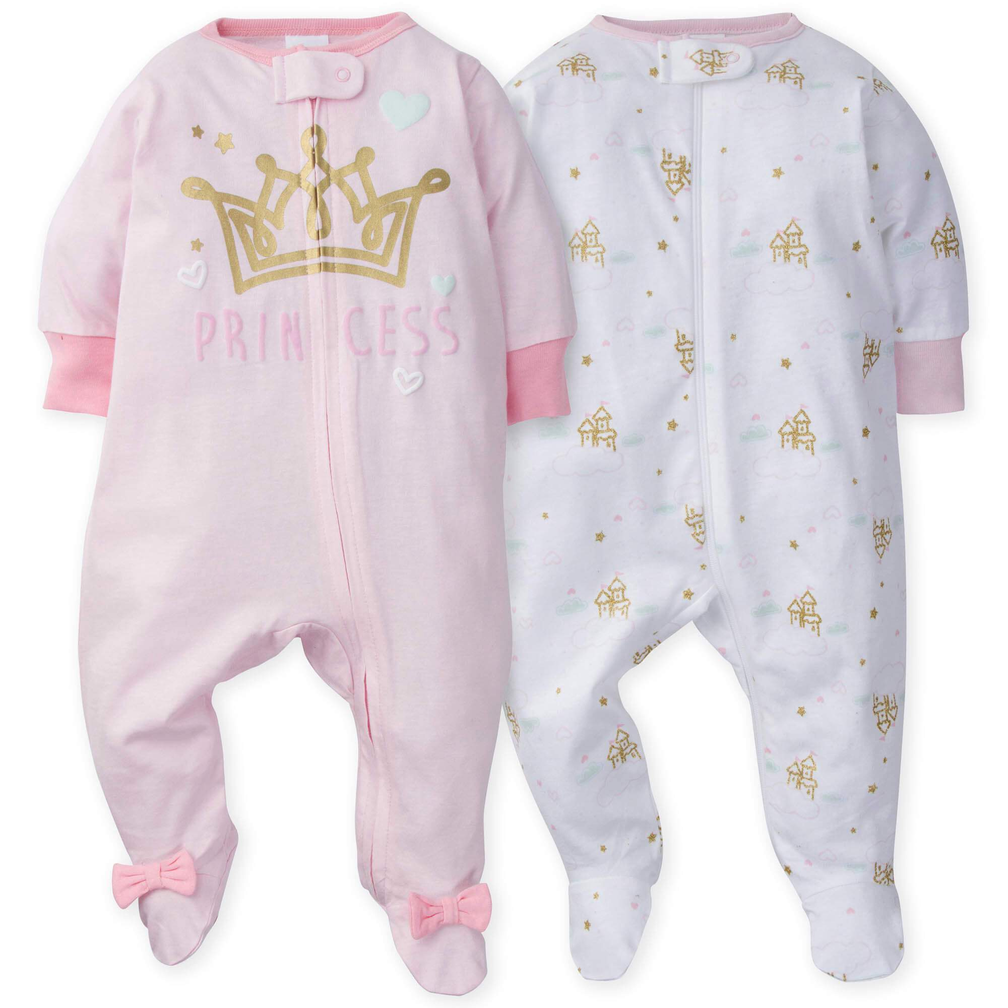 2-Pack Girls Princess Castle Sleep N' Play