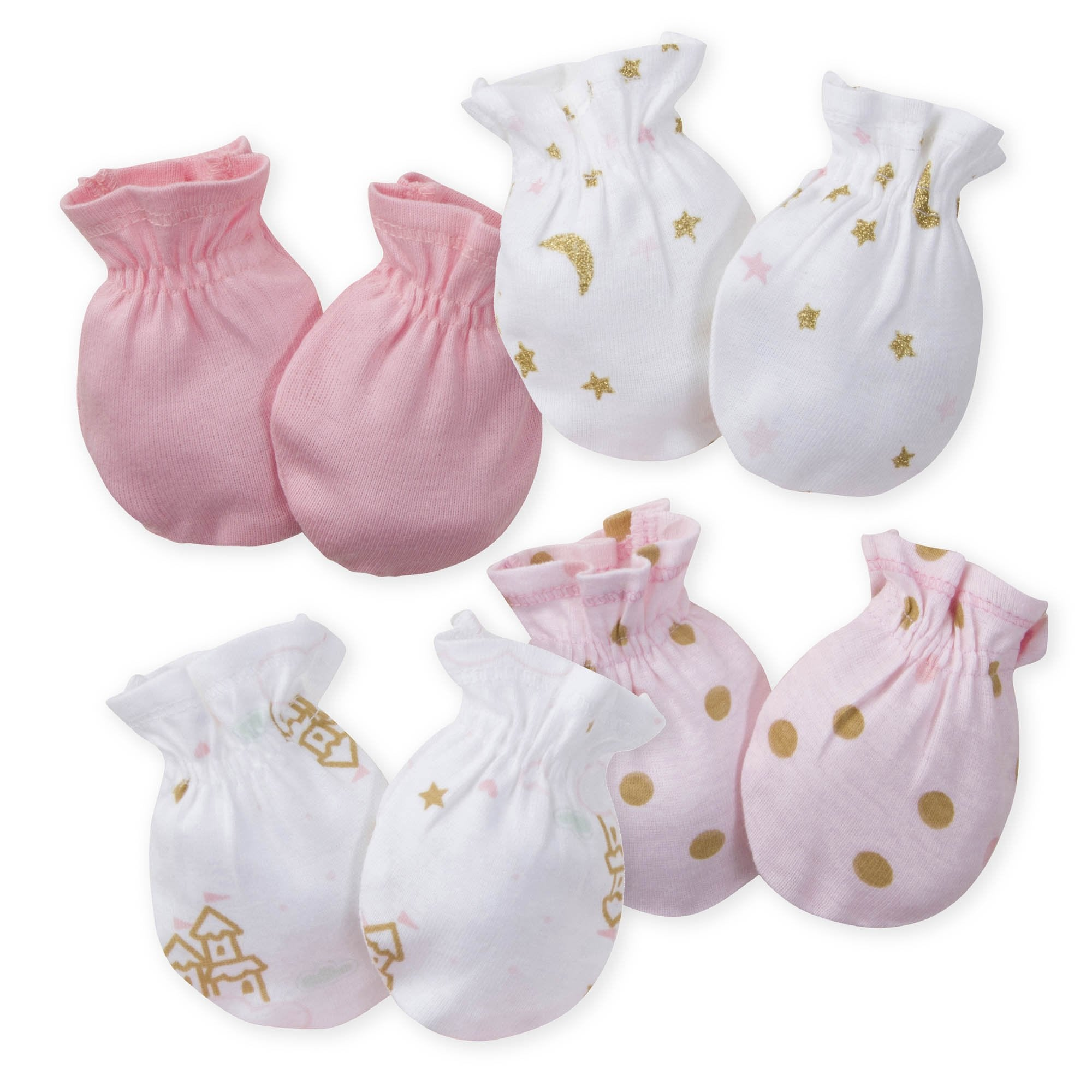 4-Pack Girls Princess Castle Mittens