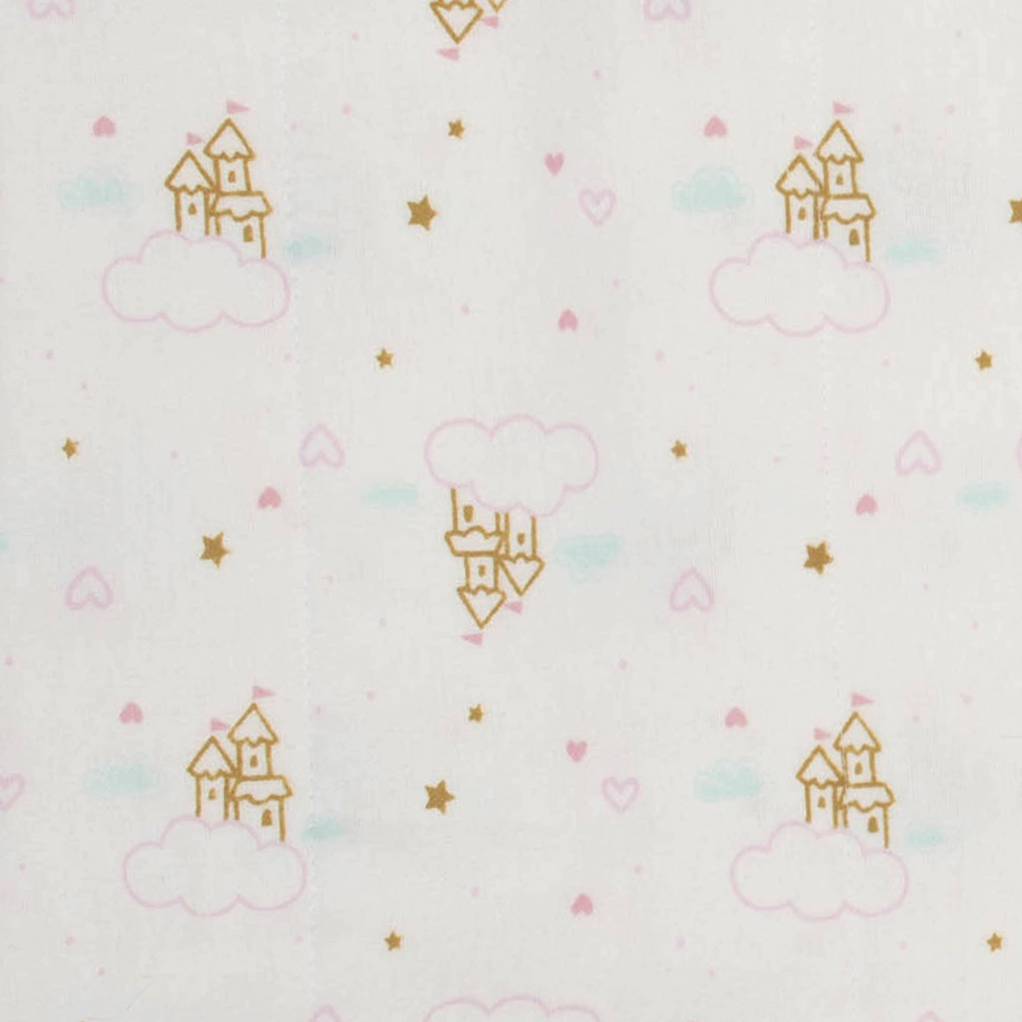 Gerber® 4-Pack Baby Girls Princess Castle Flannel Burp Cloths-Gerber Childrenswear