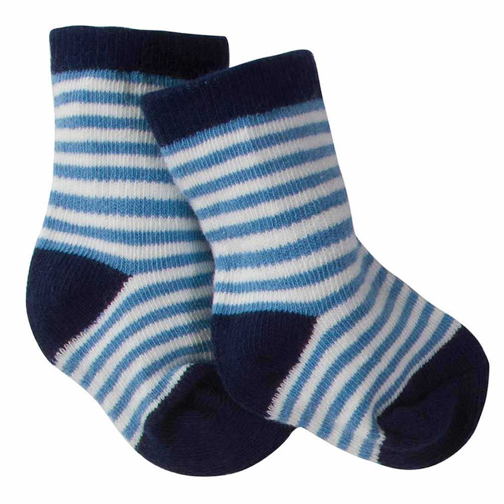 6-Pack Boys Striped Wiggle Proof Terry Crew Socks