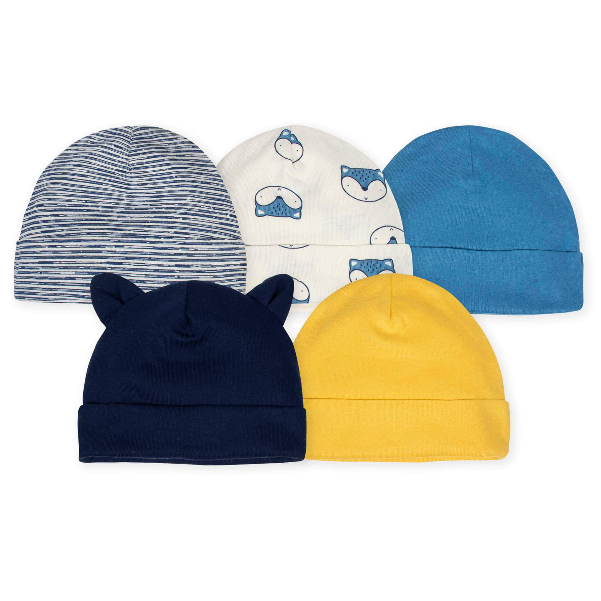 5-Pack Boys Fox Caps