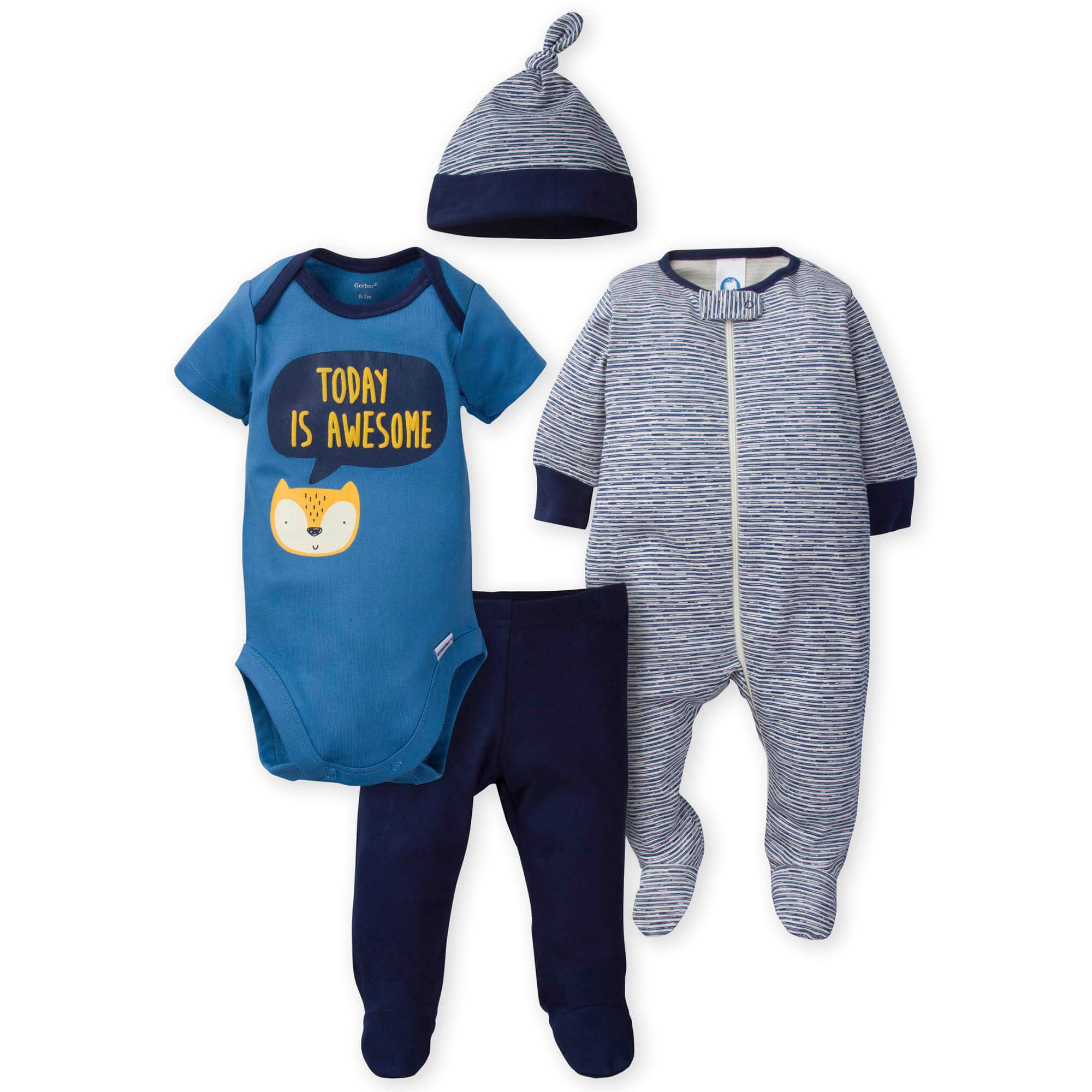 4-Piece Boys Fox Bundled Gift Set