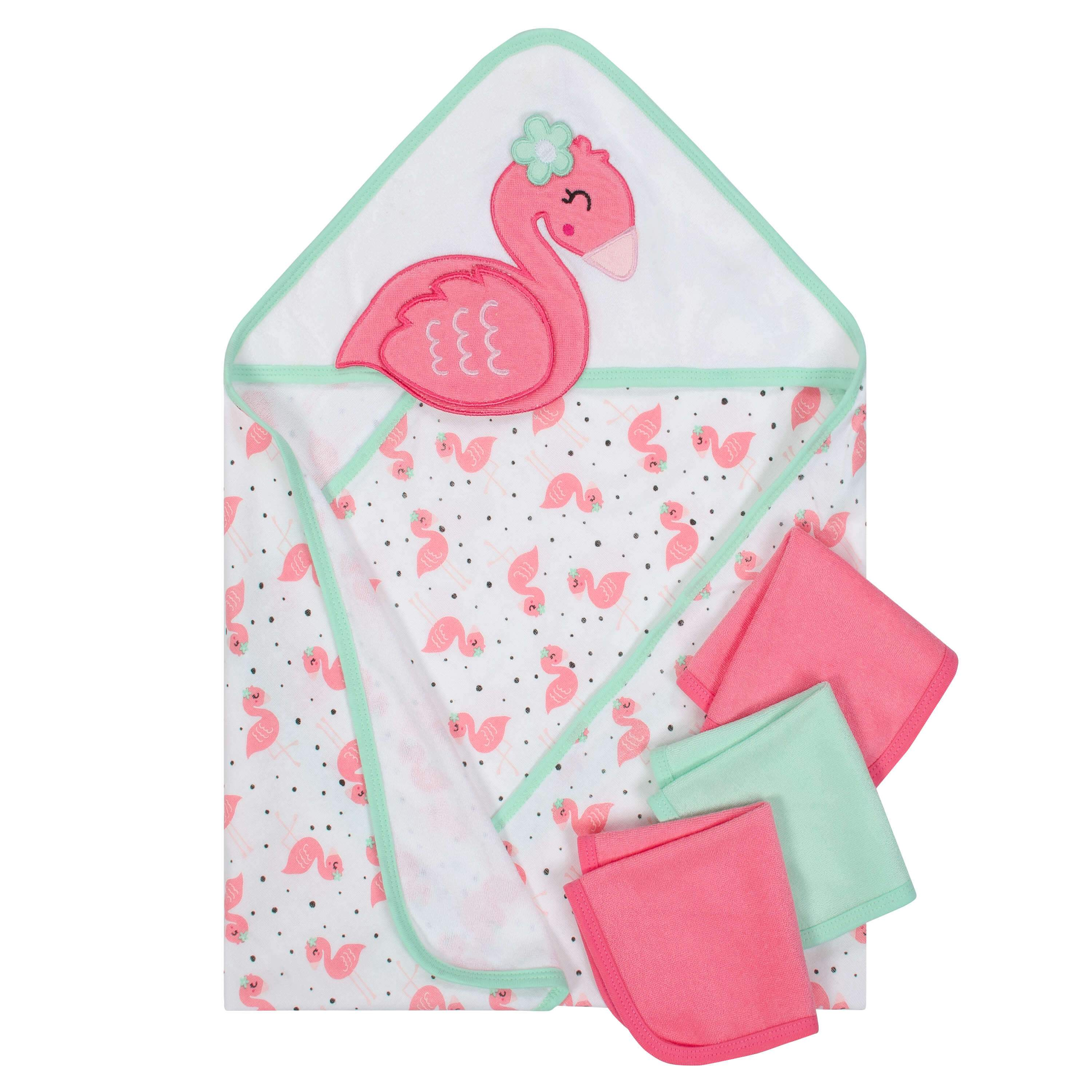 10 Piece Girls Terry Hooded Towel And Washcloth Set