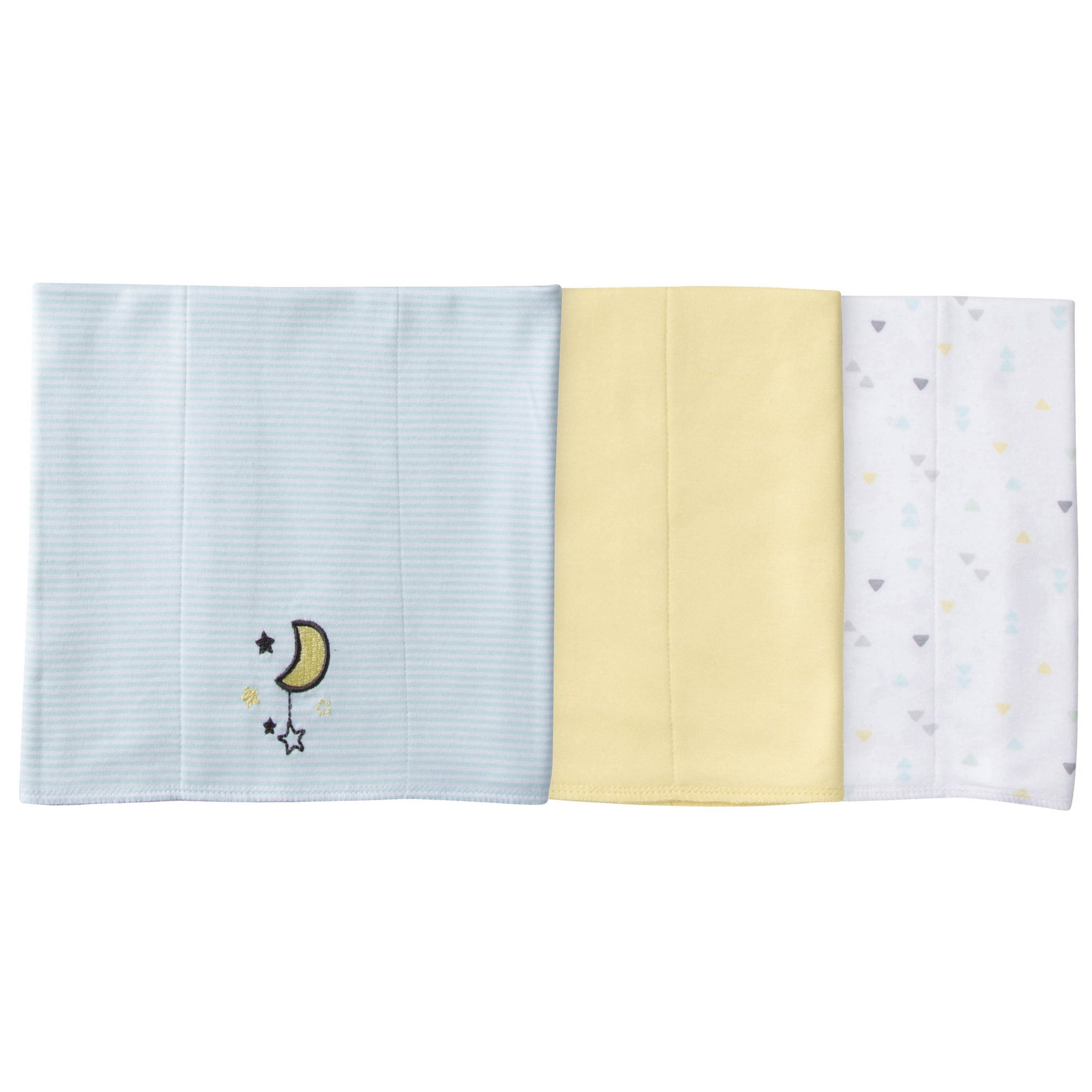 3-Pack Neutral Elephant Knit Burp Cloths