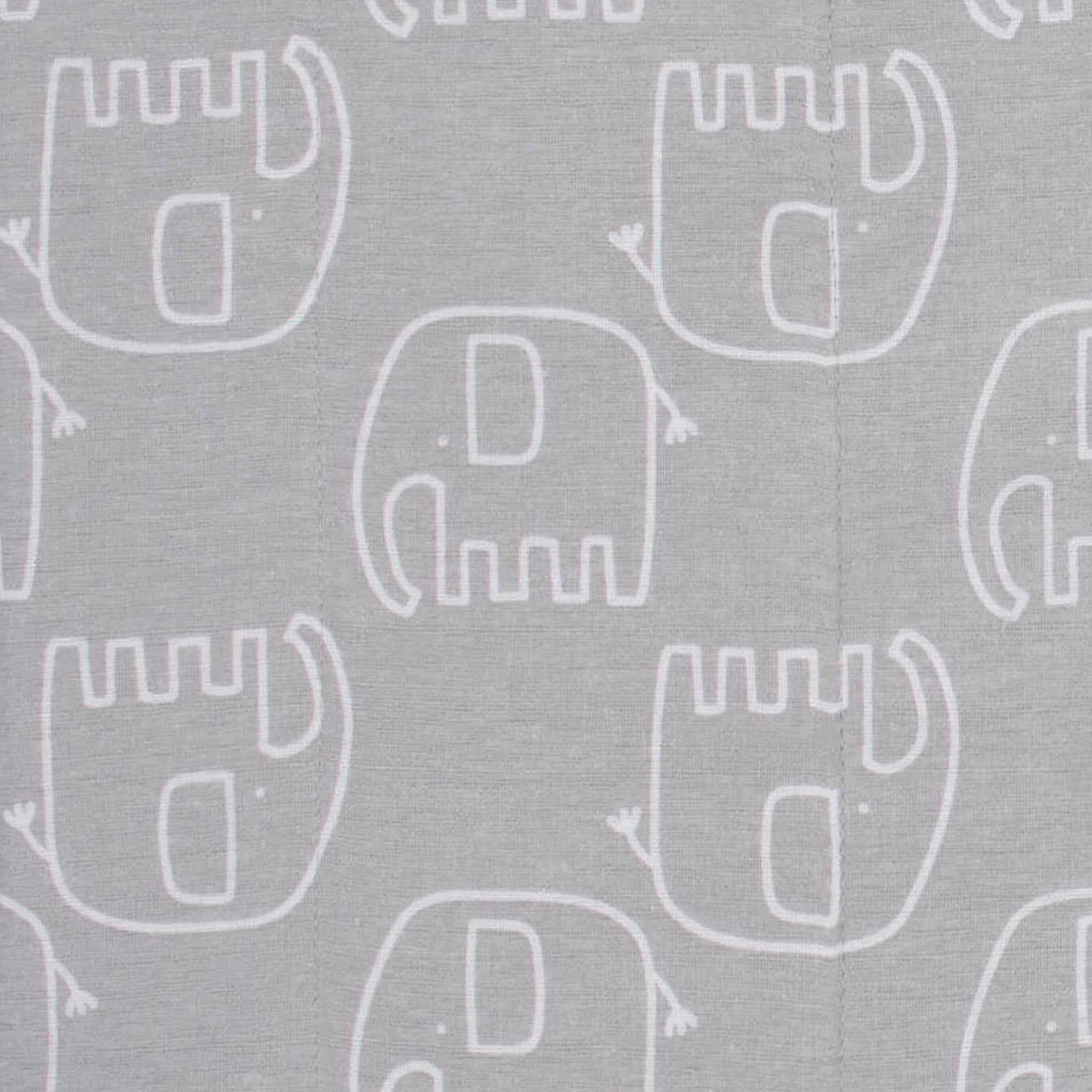 4-Pack Neutral Elephant Flannel Burp Cloths