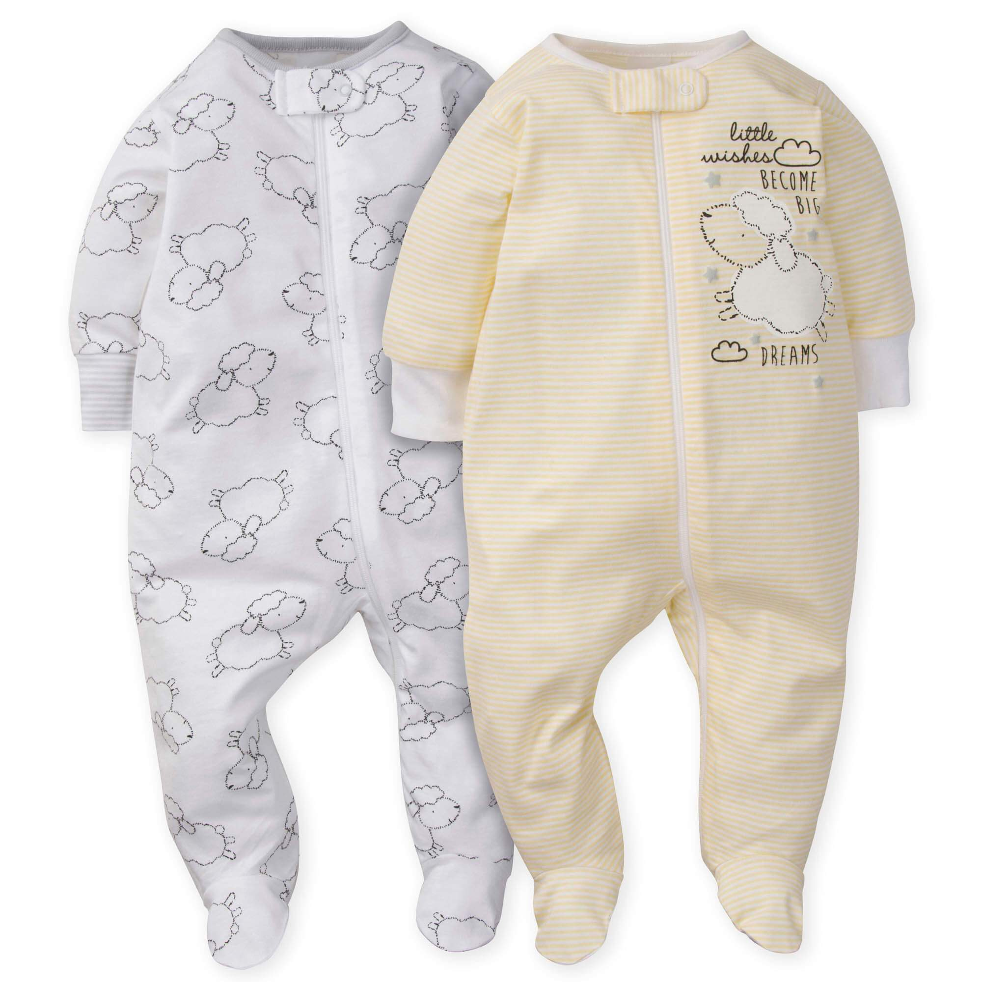 2-Pack Neutral Lamb Sleep N' Play