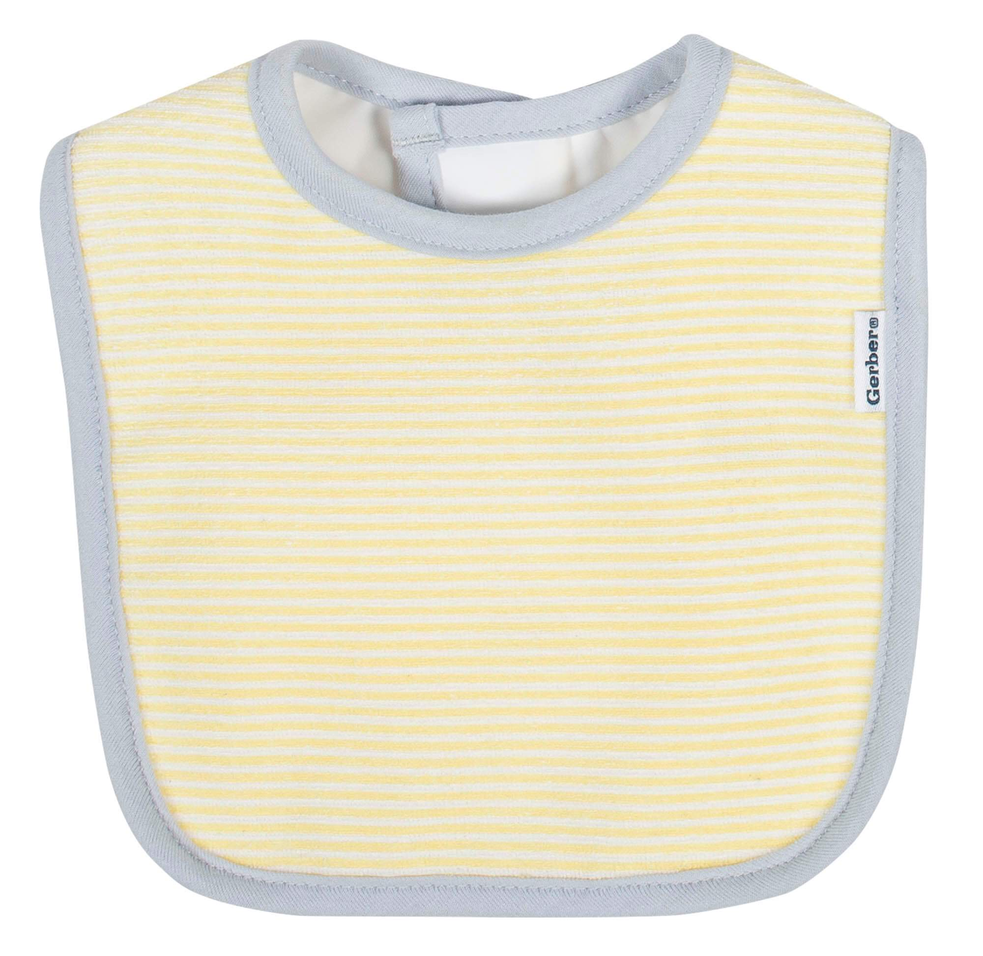 Gerber® 3-Pack Neutral Lamb Terry Bibs-Gerber Childrenswear