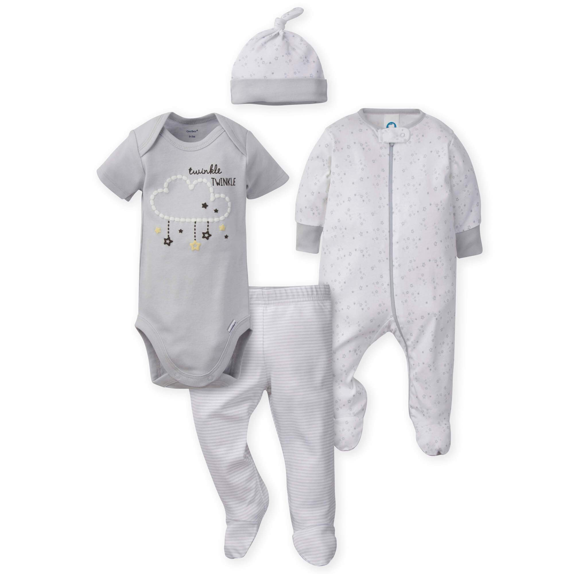 4-Piece Neutral Lamb Bundled Gift Set-Gerber Childrenswear