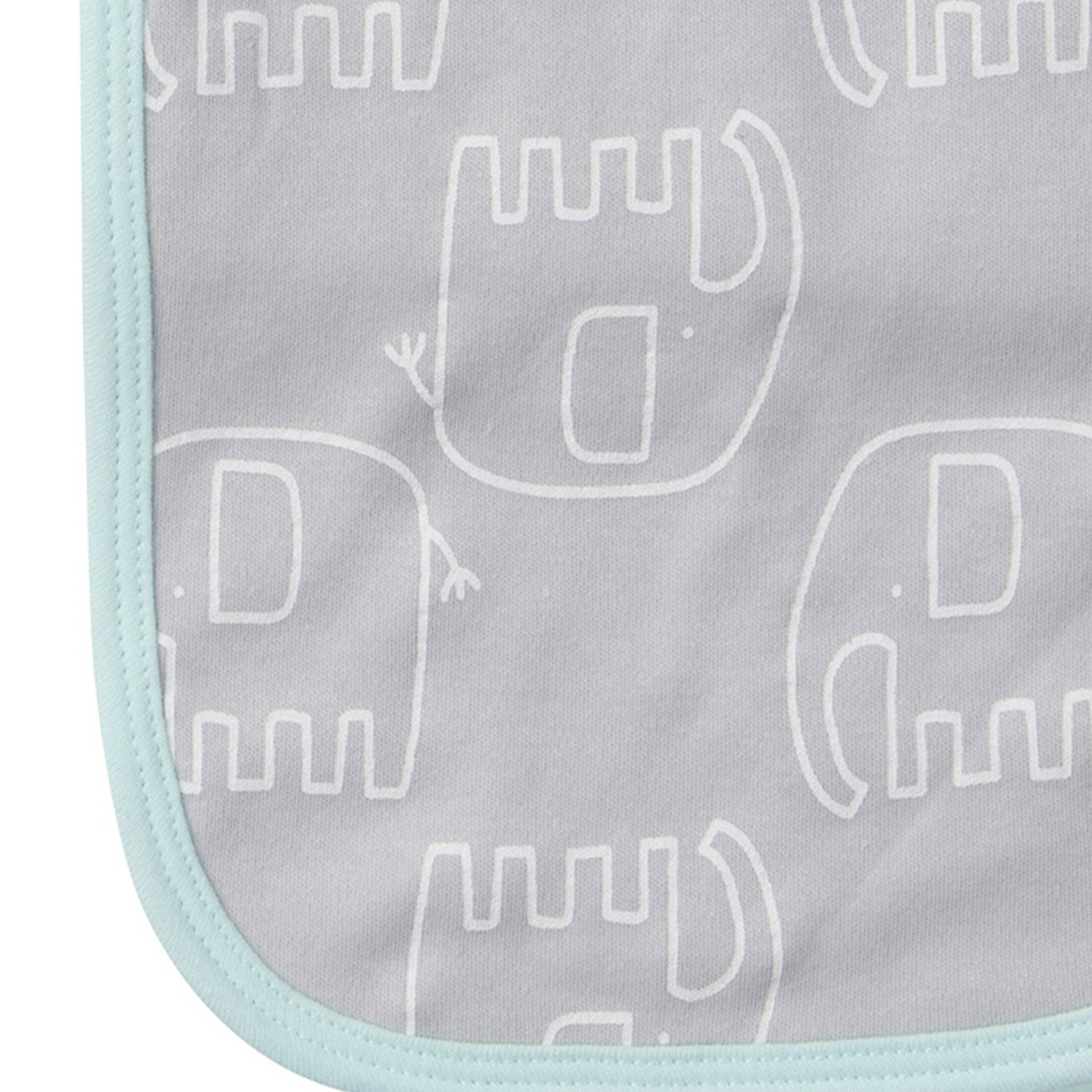 Gerber® 4-Pack Neutral Elephant Terry Burp Cloths
