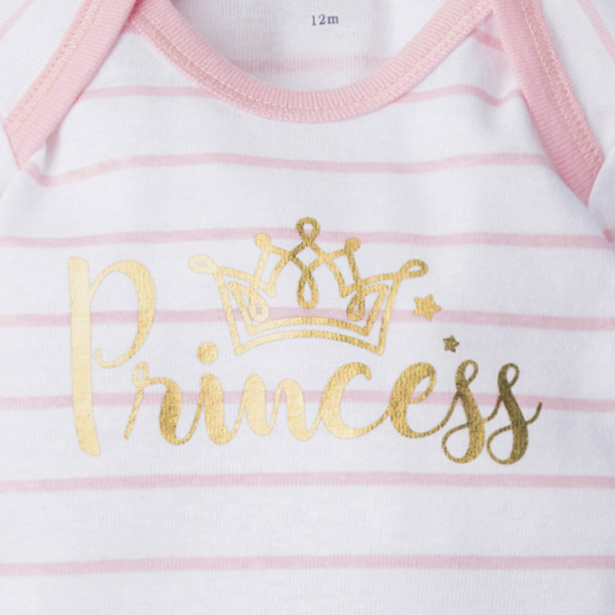 4-Pack Girls Princess Castle Short Sleeve Onesies Bodysuits-Gerber Childrenswear